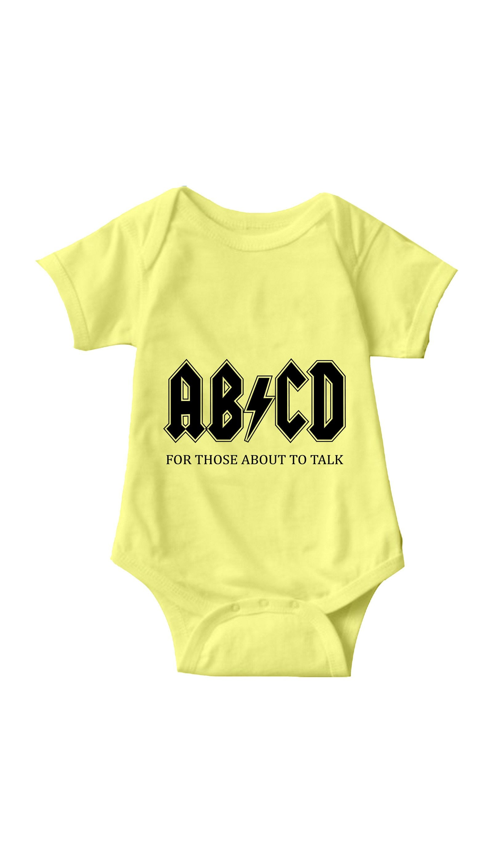 ABCD Yellow Infant Onesie | Sarcastic ME