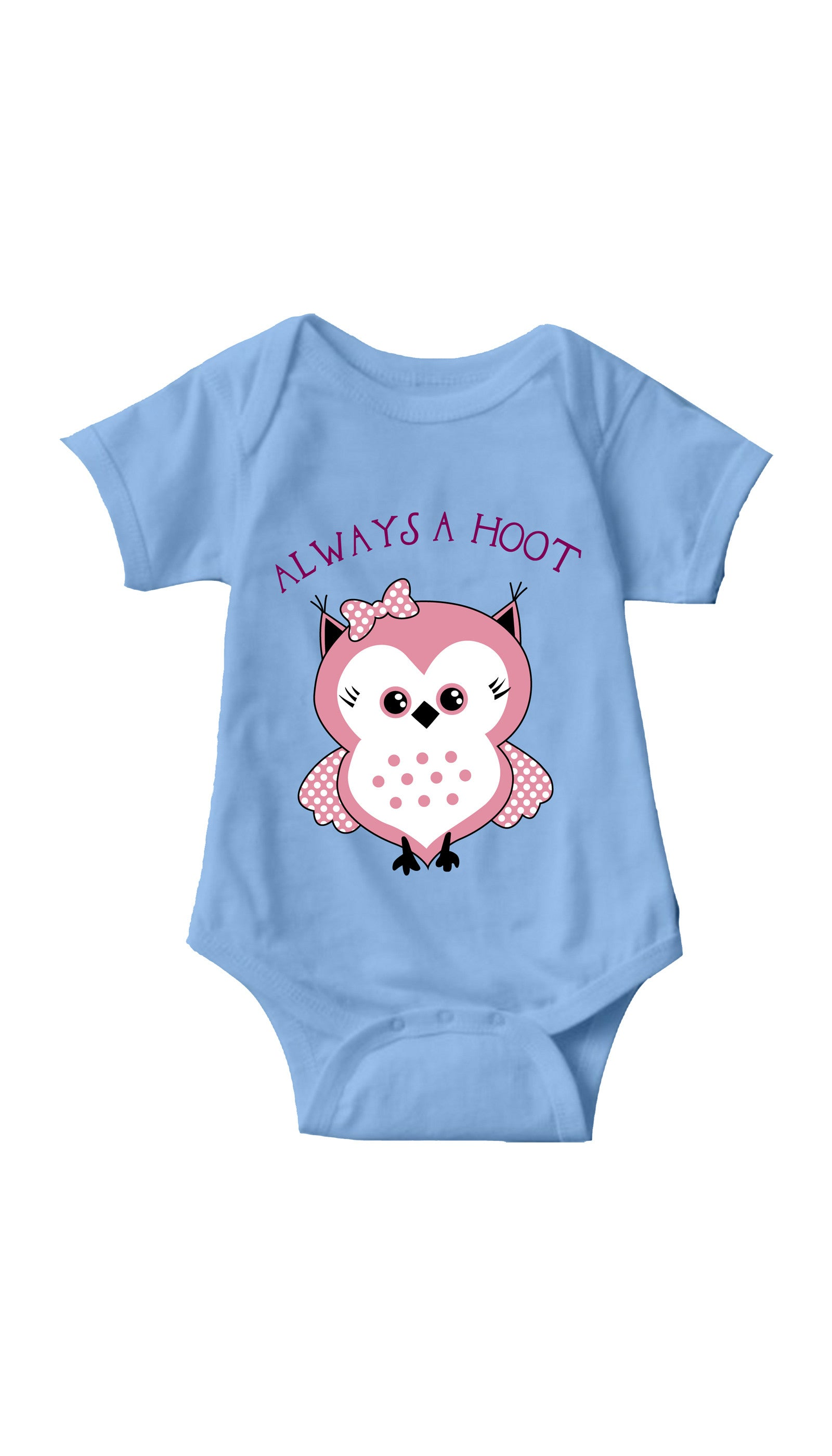 Always A Hoot Light Blue Infant Onesie | Sarcastic ME