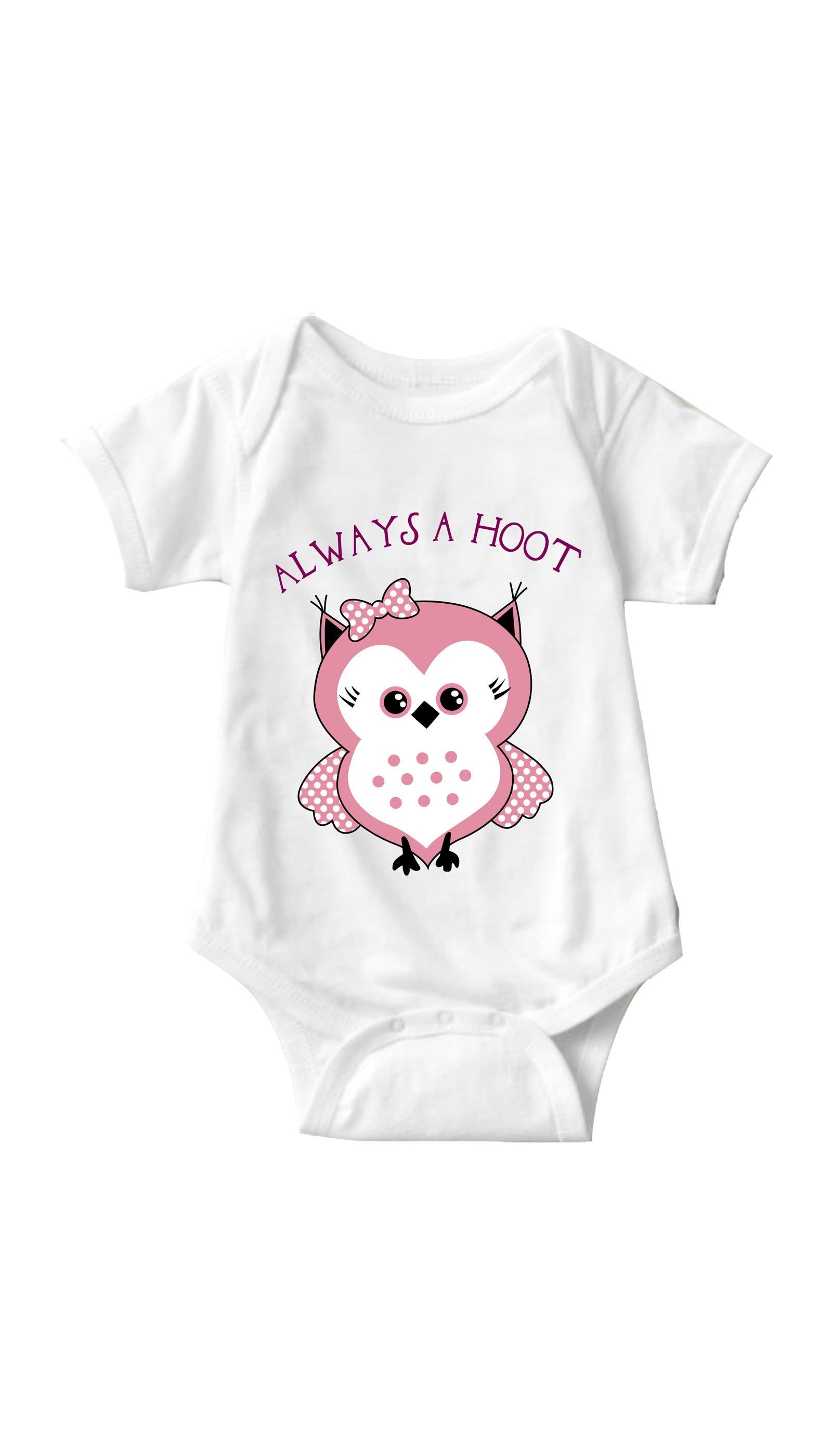 Always A Hoot White Infant Onesie | Sarcastic ME
