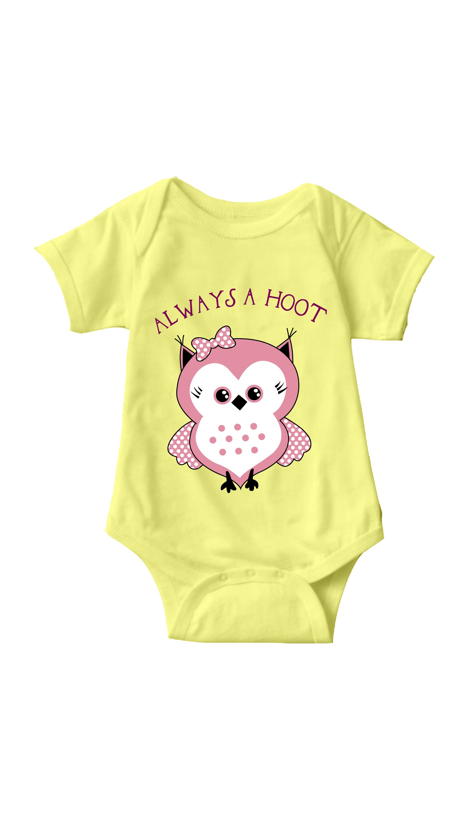 Always A Hoot Yellow Infant Onesie | Sarcastic ME