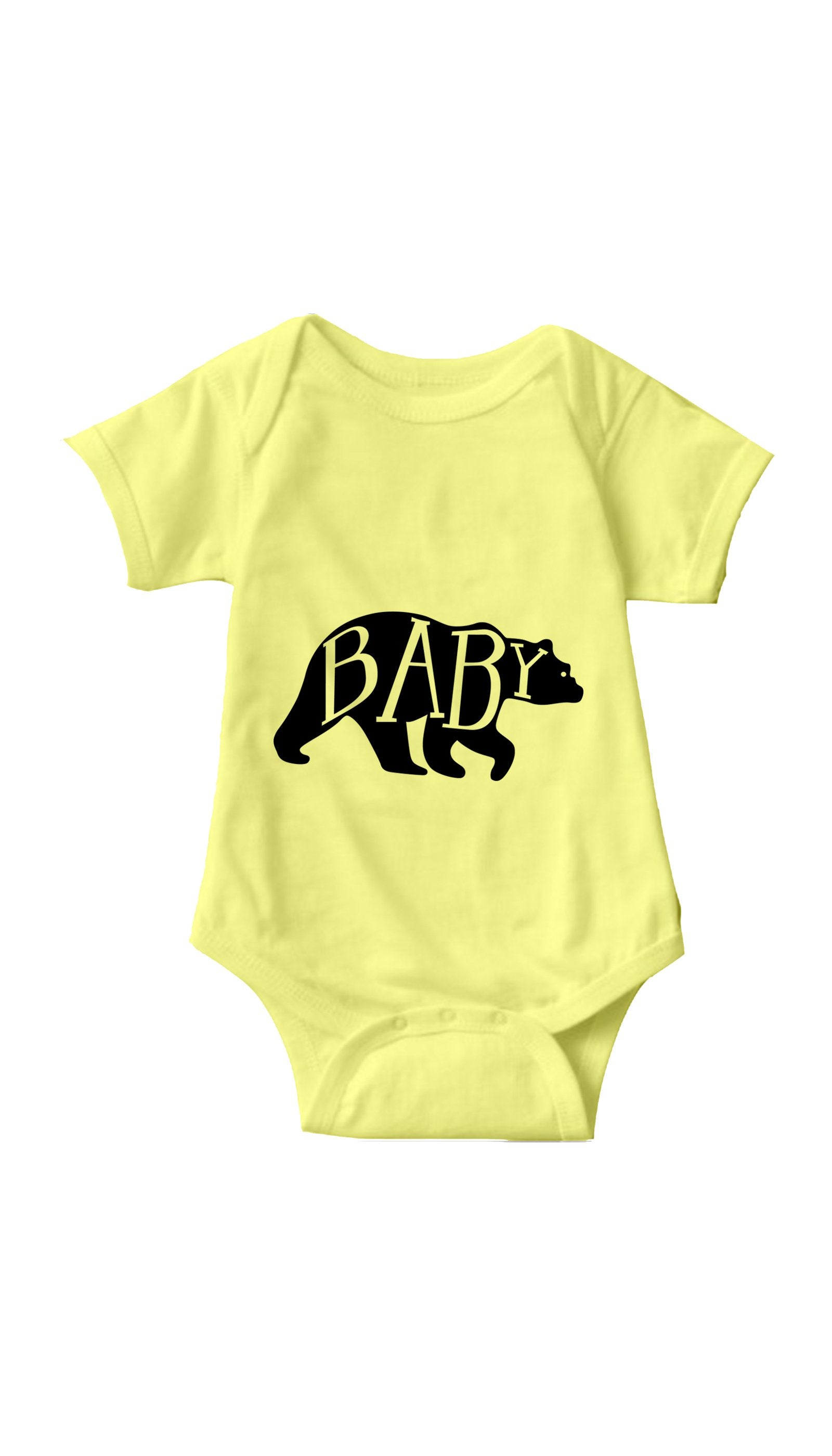 Baby Bear Yellow Infant Onesie | Sarcastic ME
