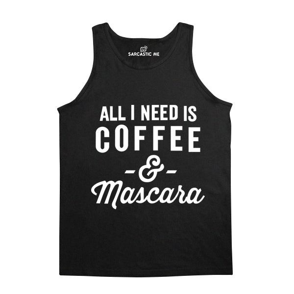Coffee And Mascara Black Unisex Tank Top | Sarcastic Me
