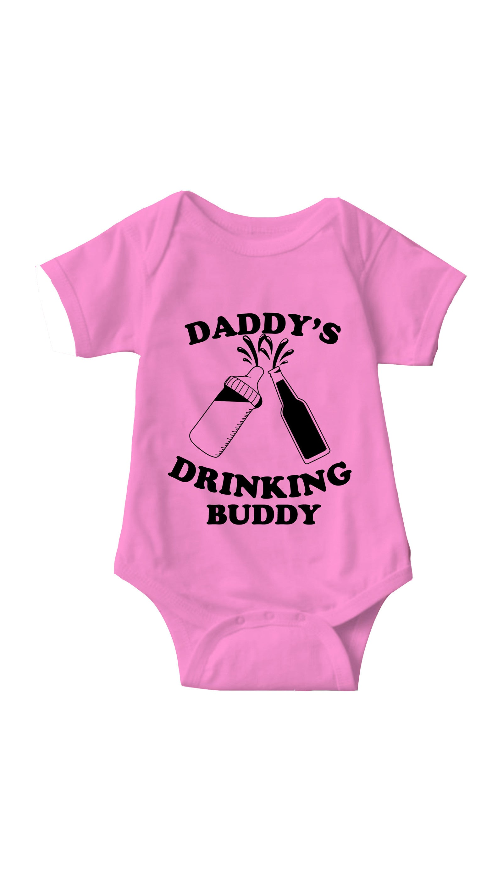 Daddy's Drinking Buddy Pink Infant Onesie | Sarcastic ME