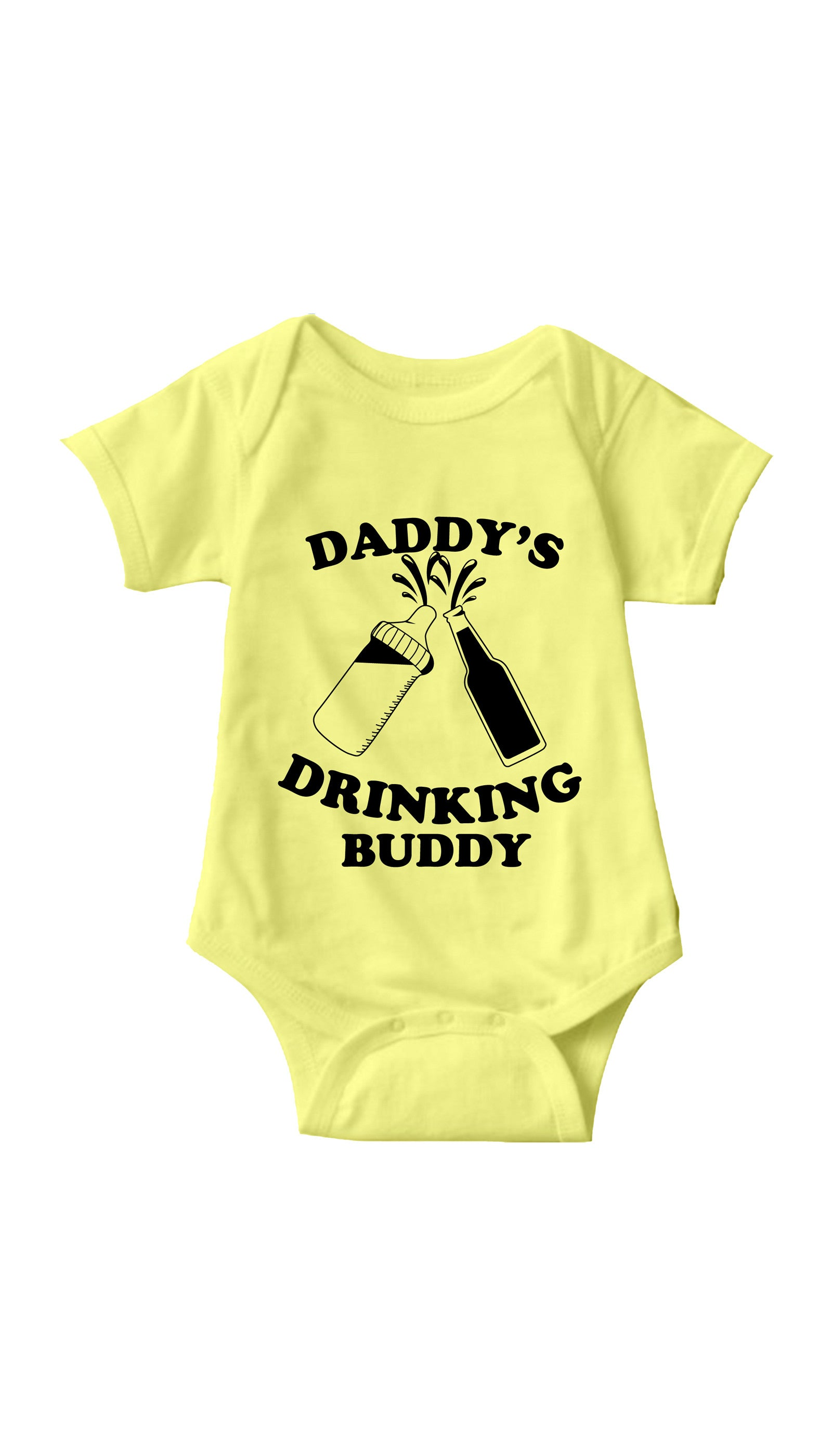 Daddy's Drinking Buddy Yellow Infant Onesie | Sarcastic ME