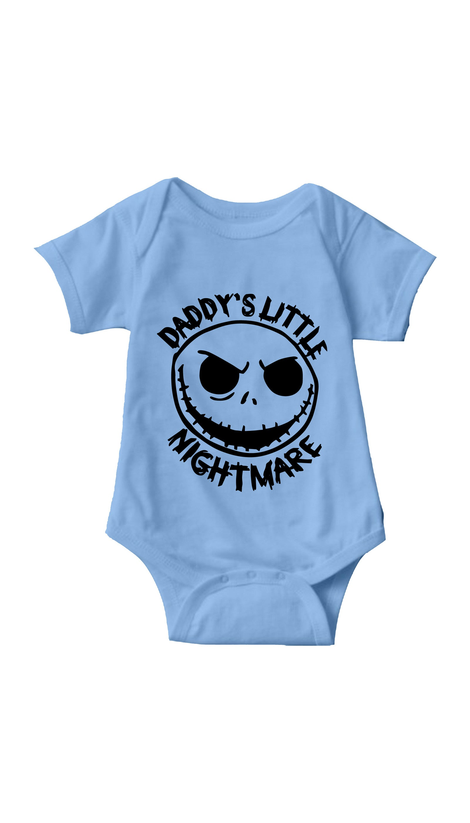 Daddy's Little Nightmare Light Blue Infant Onesie | Sarcastic ME