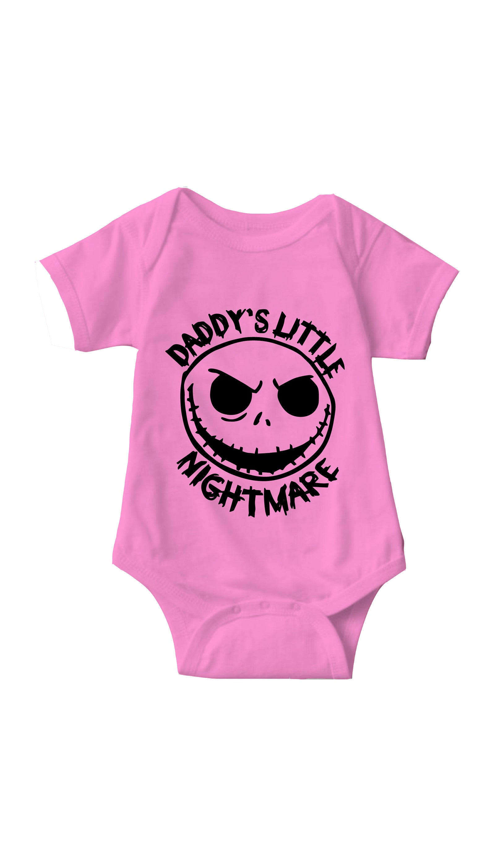Daddy's Little Nightmare Pink Infant Onesie | Sarcastic ME