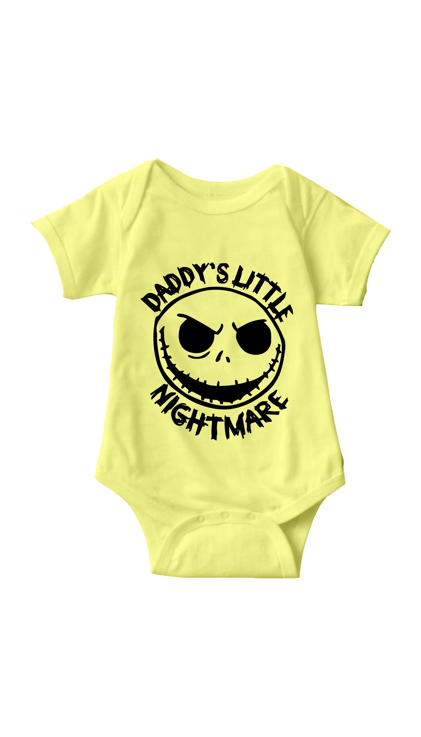 Daddy's Little Nightmare Yellow Infant Onesie | Sarcastic ME