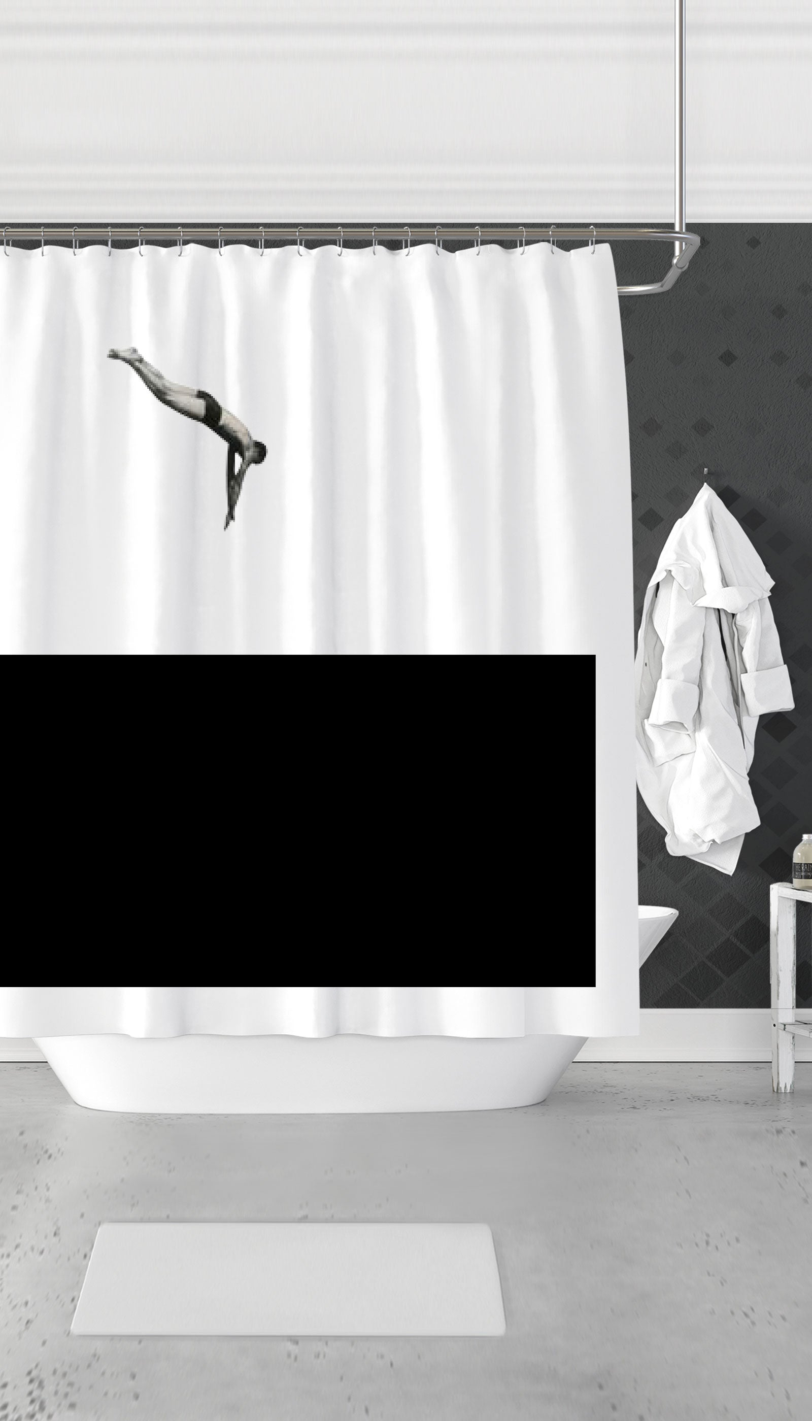Dive In Water Funny Dorm Shower Curtain Gift Sarcastic Me