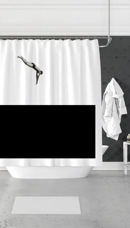 Dive In Water Funny Dorm Shower Curtain Gift | Sarcastic ME