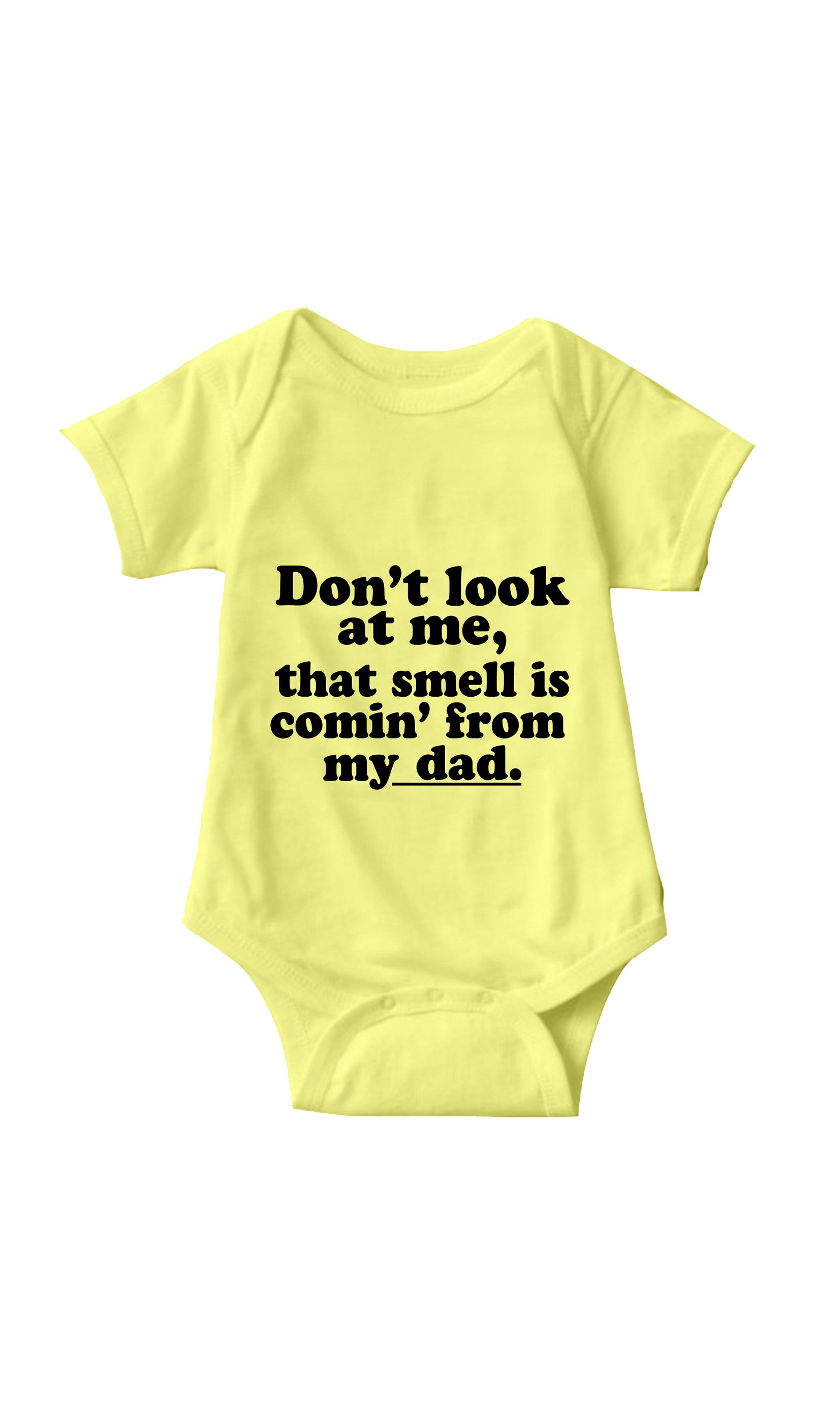 Don't Look At Me Yellow Infant Onesie | Sarcastic ME