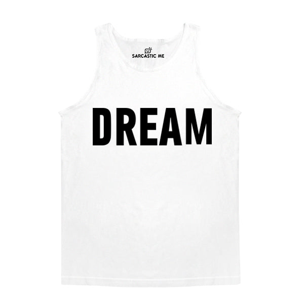 Dream White Unisex Tank Top | Sarcastic Me