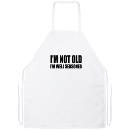 I'm Not Old I'm Well Seasoned Funny Kitchen Apron | Sarcastic Me