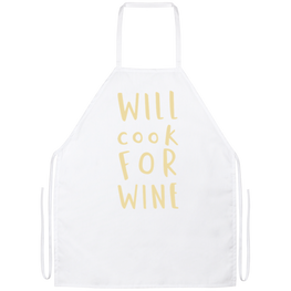 Will Cook For Wine Funny Kitchen Apron | Sarcastic Me