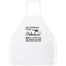 My Cooking Is So Fabulous Funny Kitchen Apron | Sarcastic Me