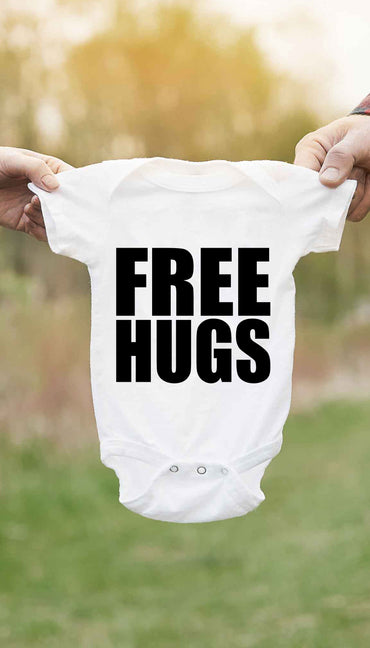 Free Hugs Cute & Funny Baby Infant Onesie