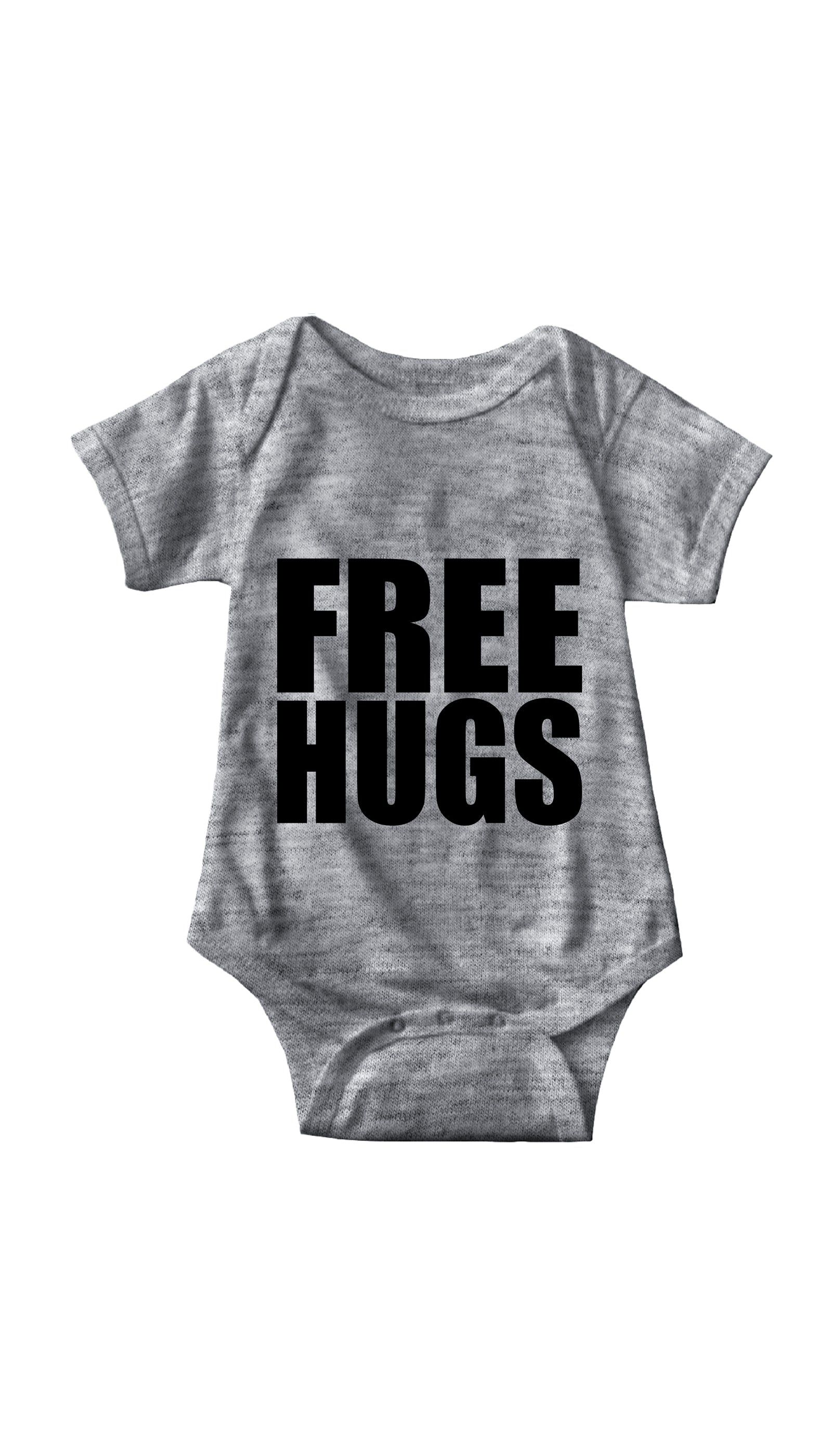 Free Hugs Gray Infant Onesie | Sarcastic ME