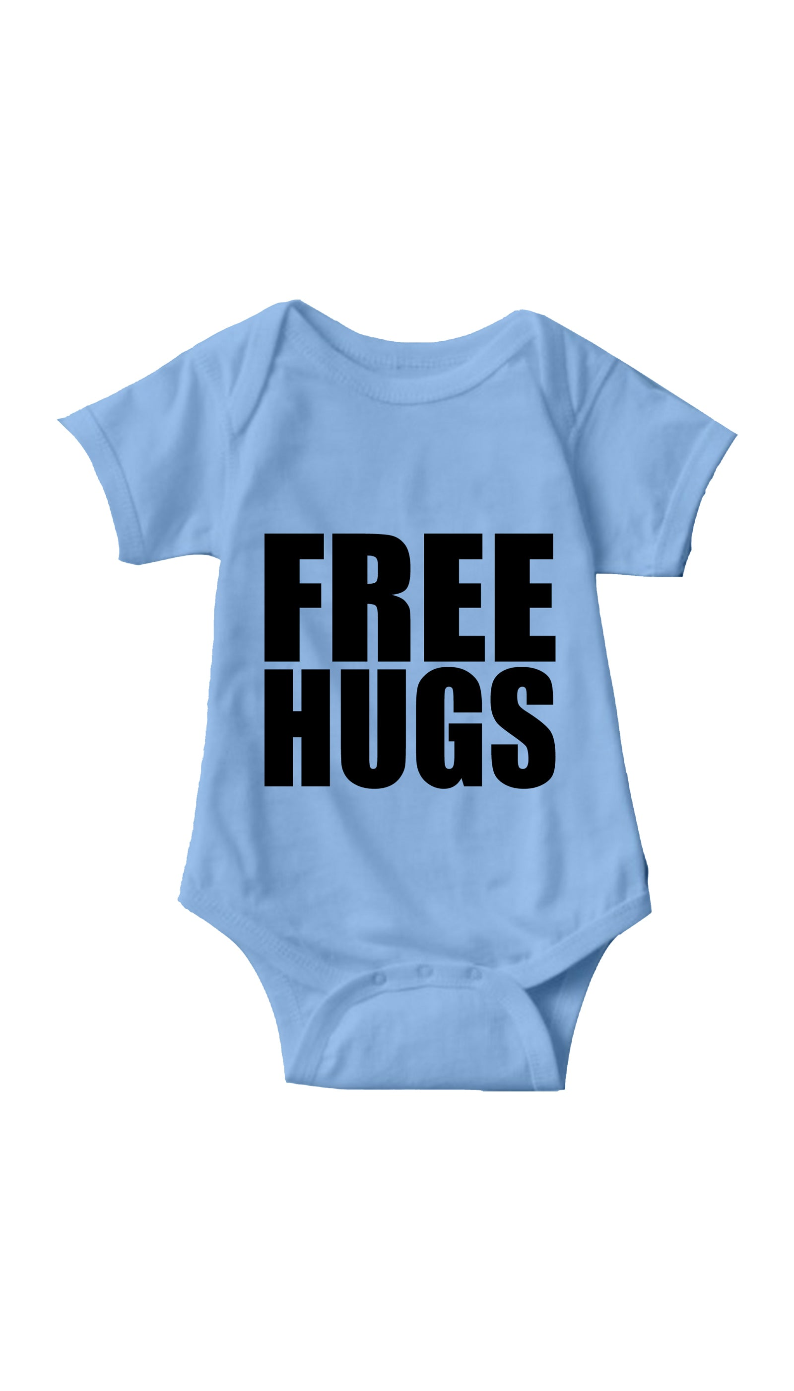 Free Hugs Light Blue Infant Onesie | Sarcastic ME