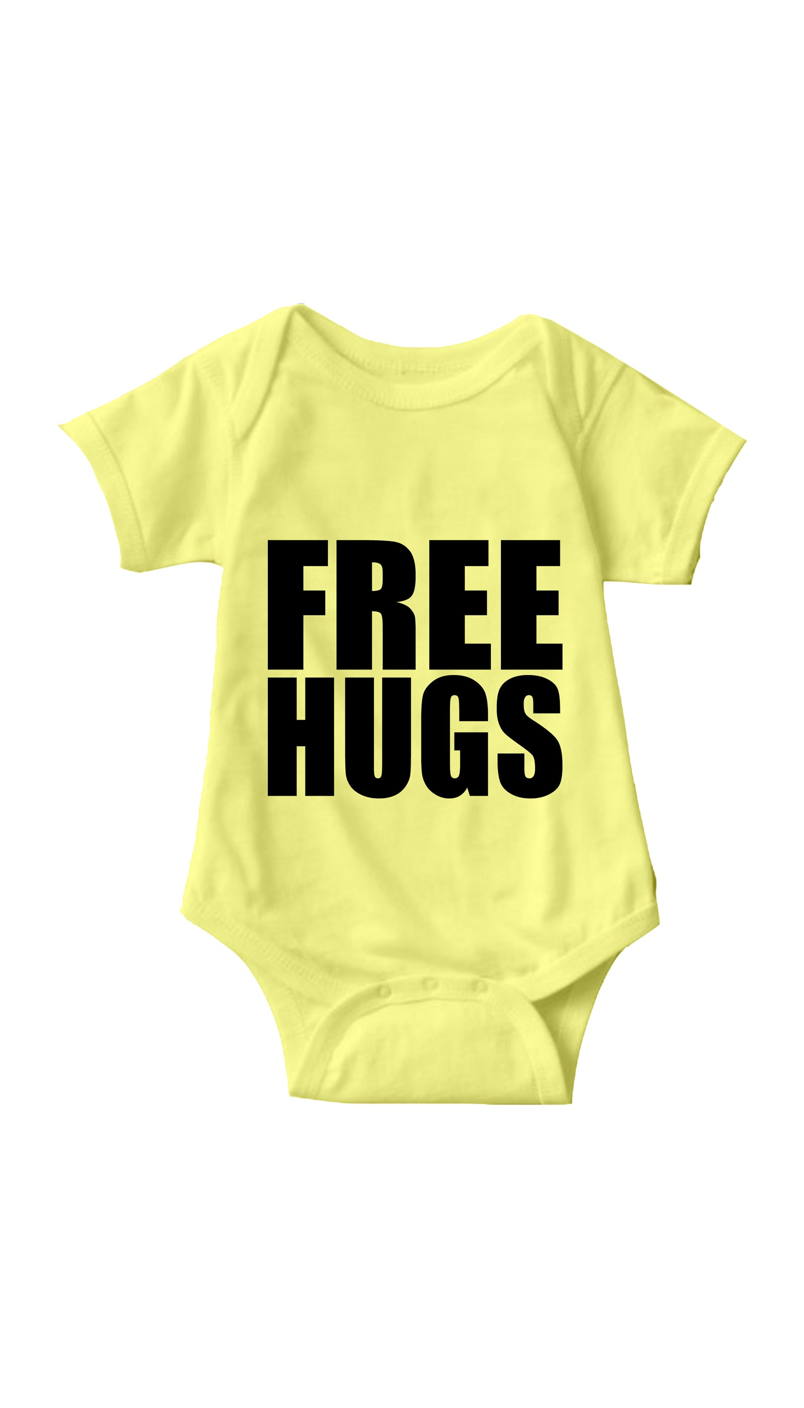 Free Hugs Yellow Infant Onesie | Sarcastic ME