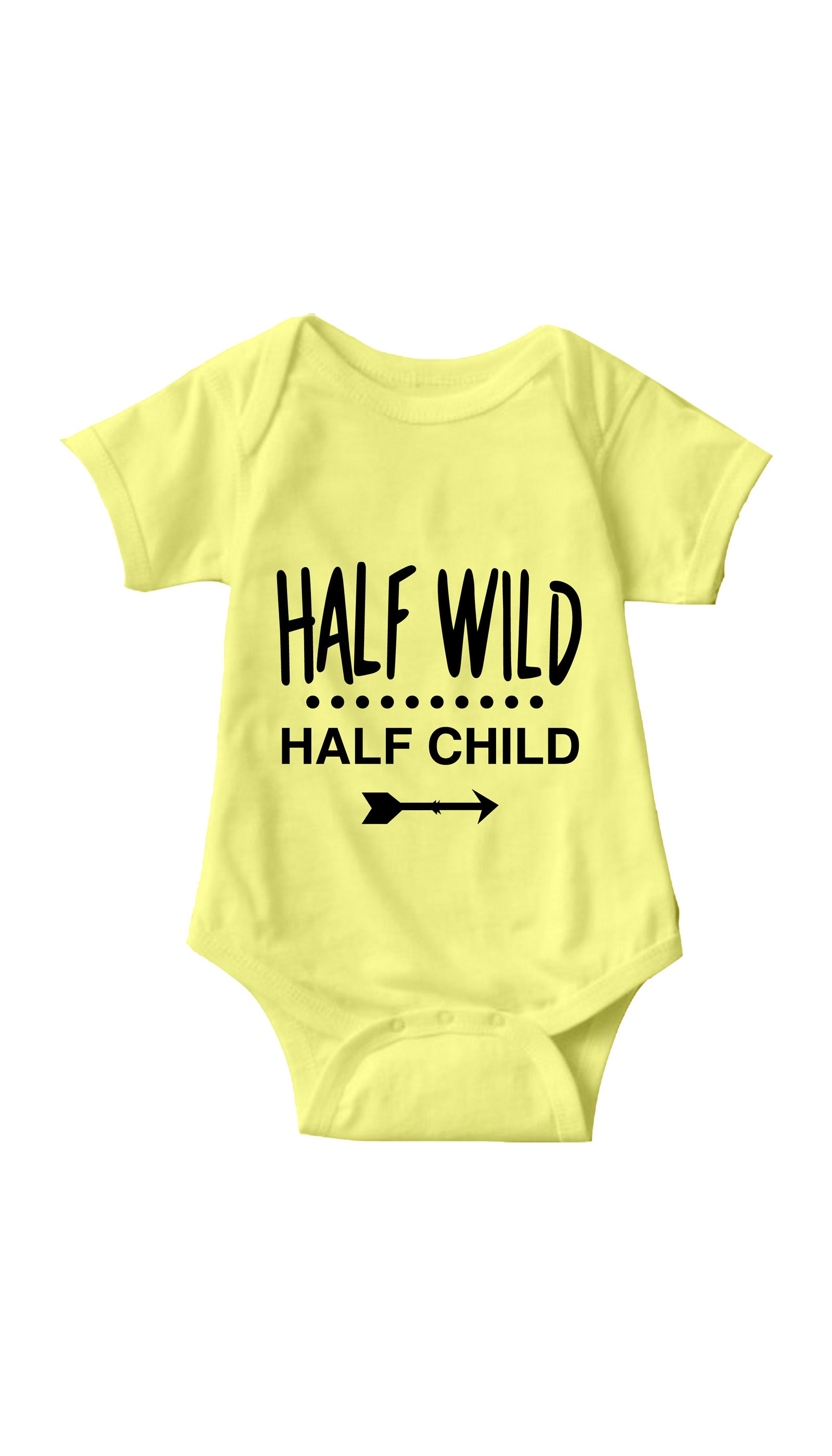 Half Wild Half Child Yellow Infant Onesie | Sarcastic ME