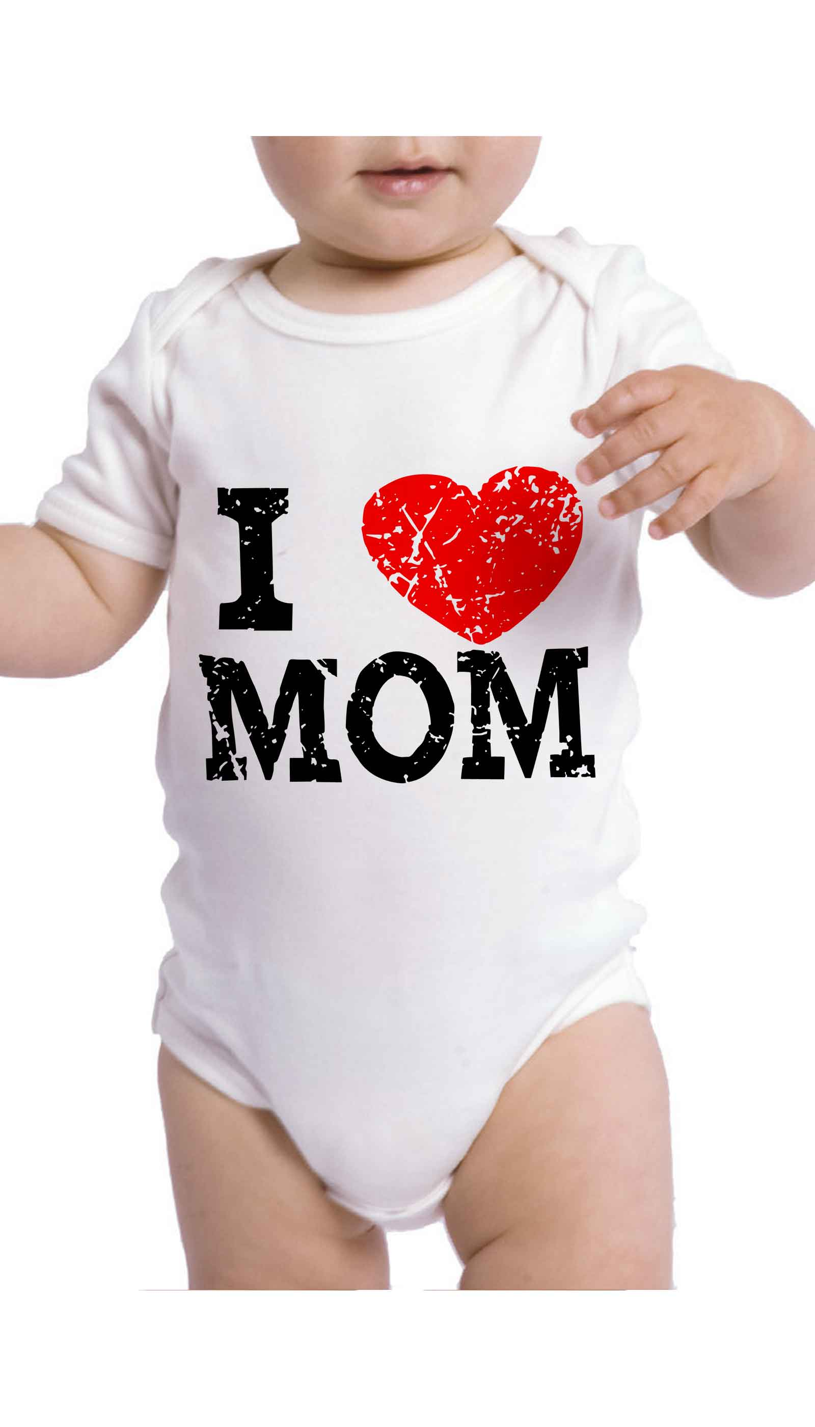 I Love Mom Cute & Funny Baby Infant Onesie | Sarcastic ME
