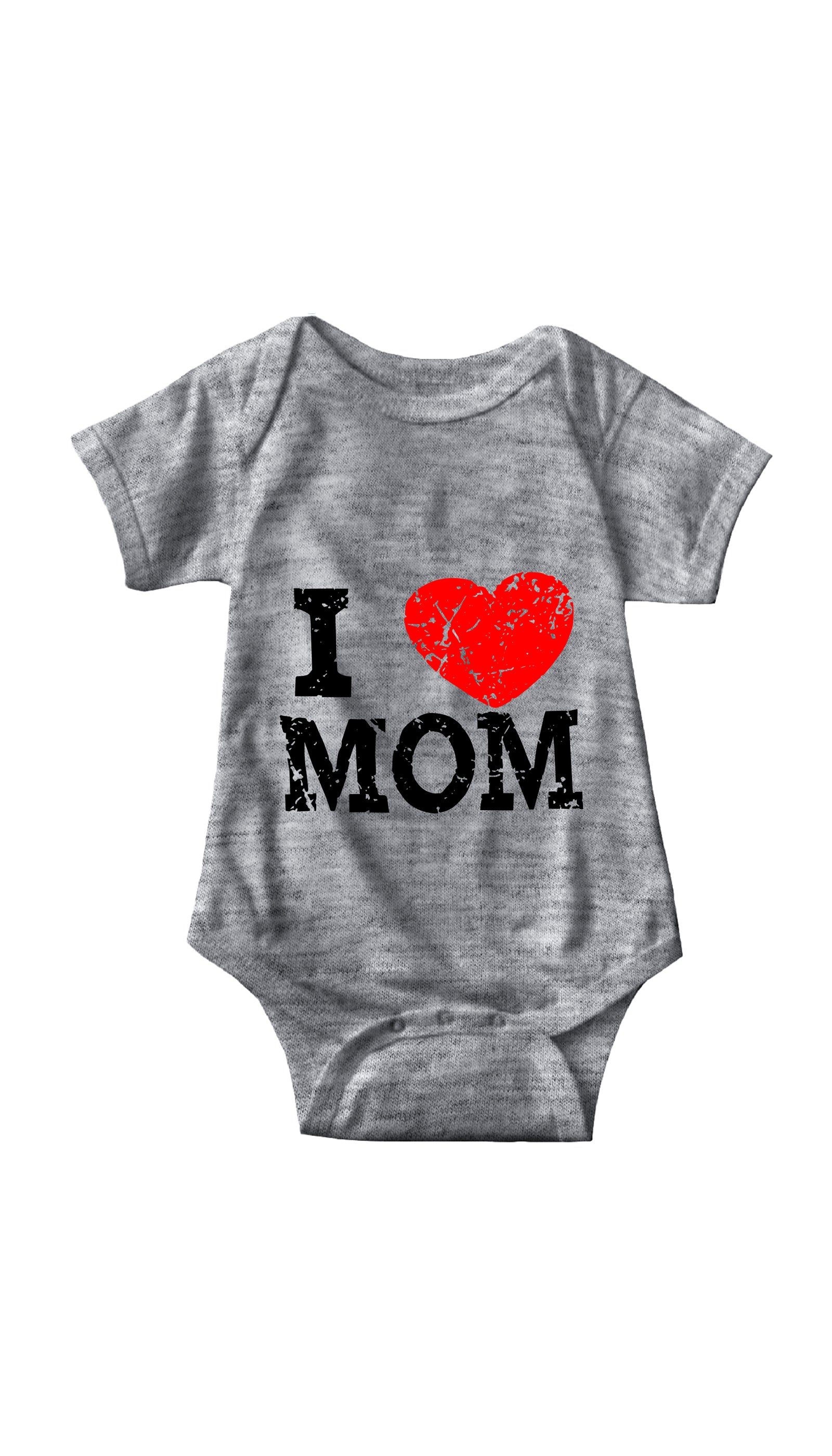 I Love Mom Gray Infant Onesie | Sarcastic ME