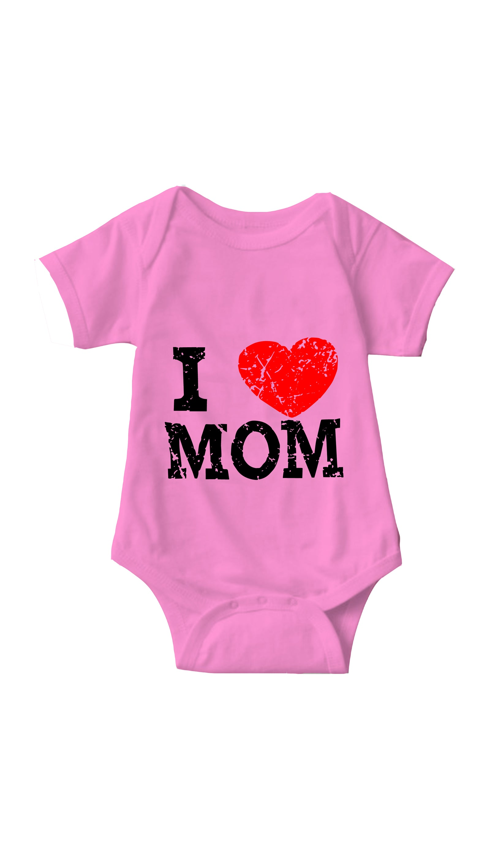 I Love Mom Pink Infant Onesie | Sarcastic ME