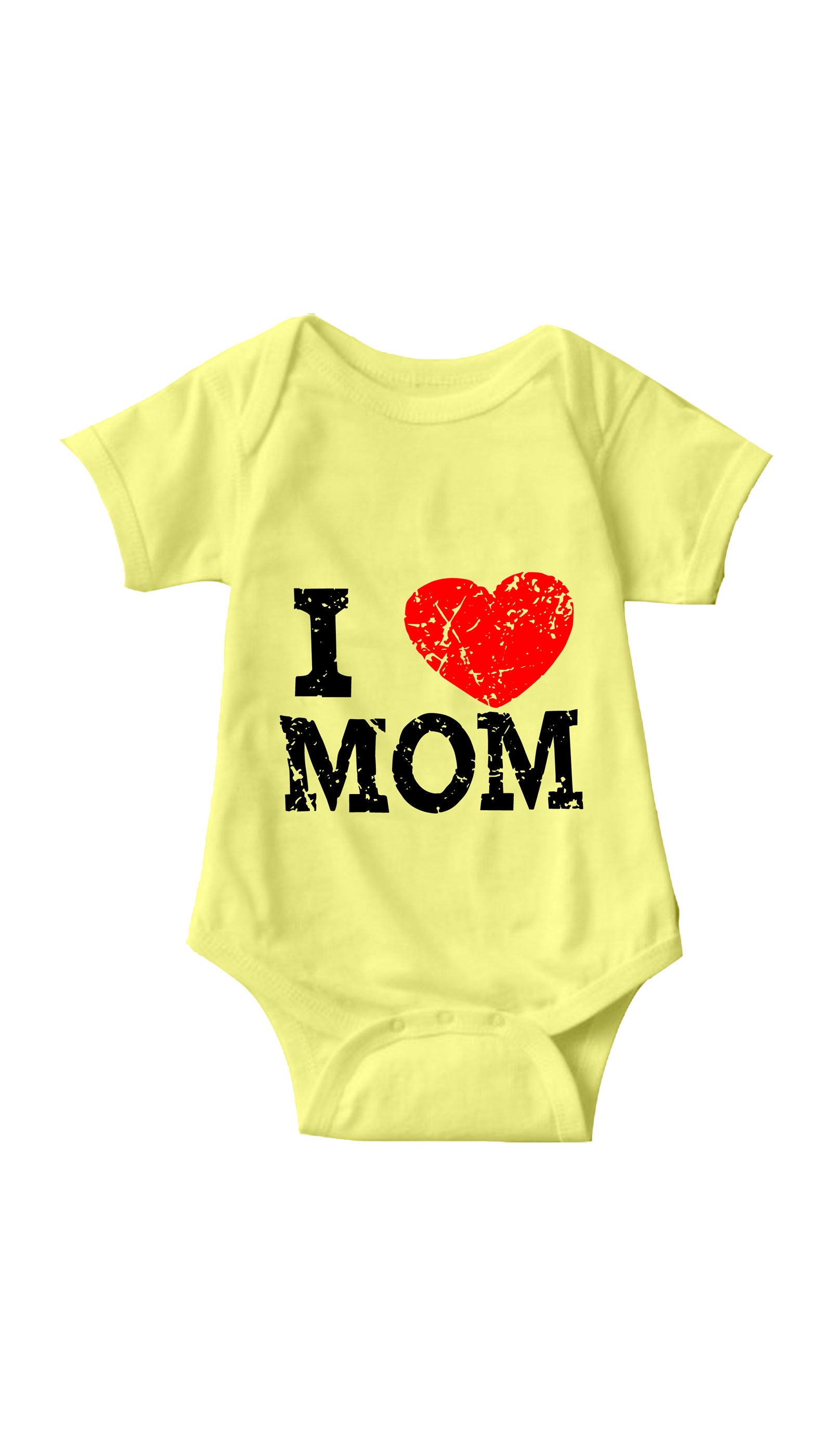 I Love Mom Yellow Infant Onesie | Sarcastic ME