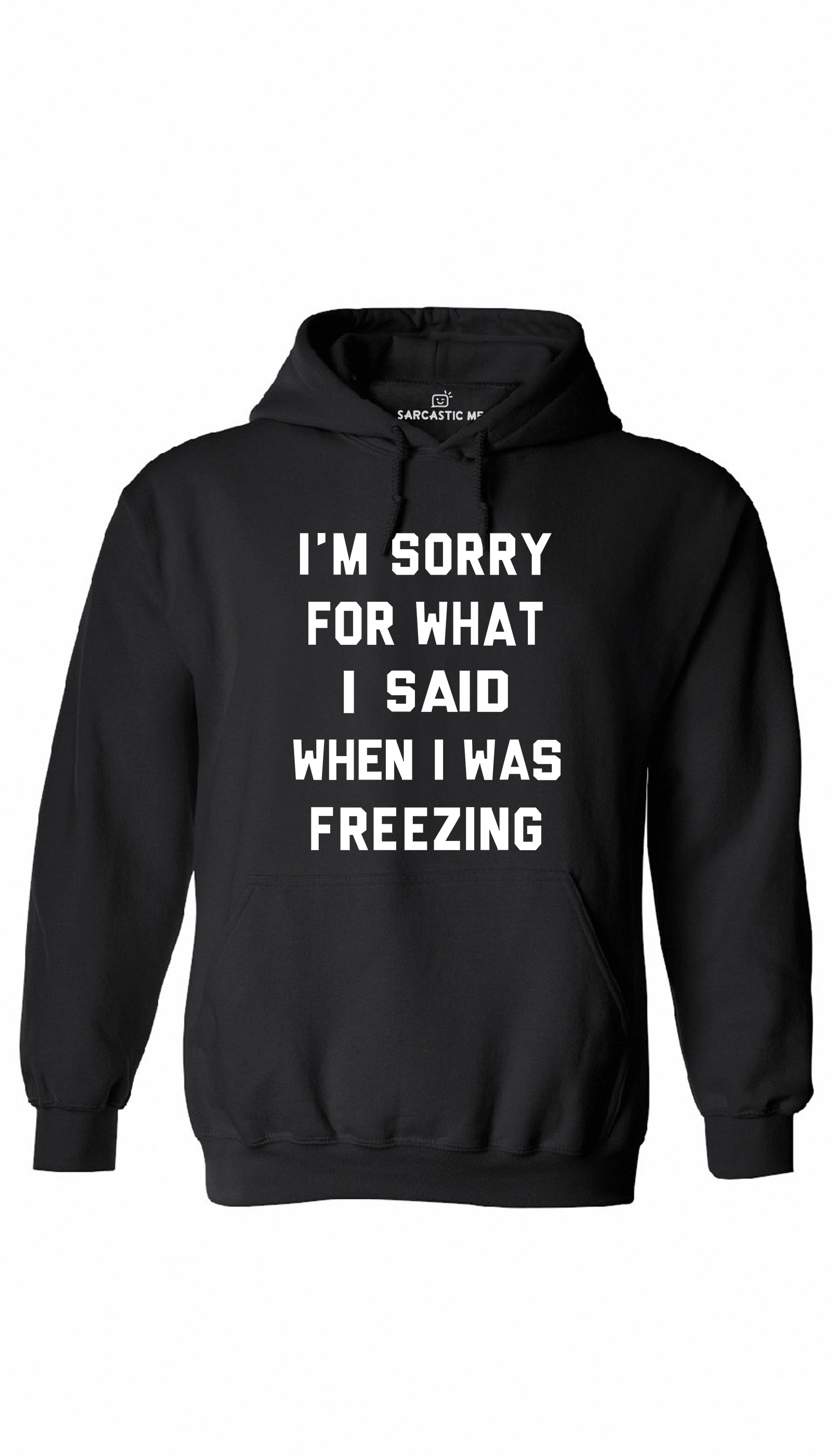 I'm Sorry For What I Said When I Was Freezing Black Hoodie | Sarcastic ME