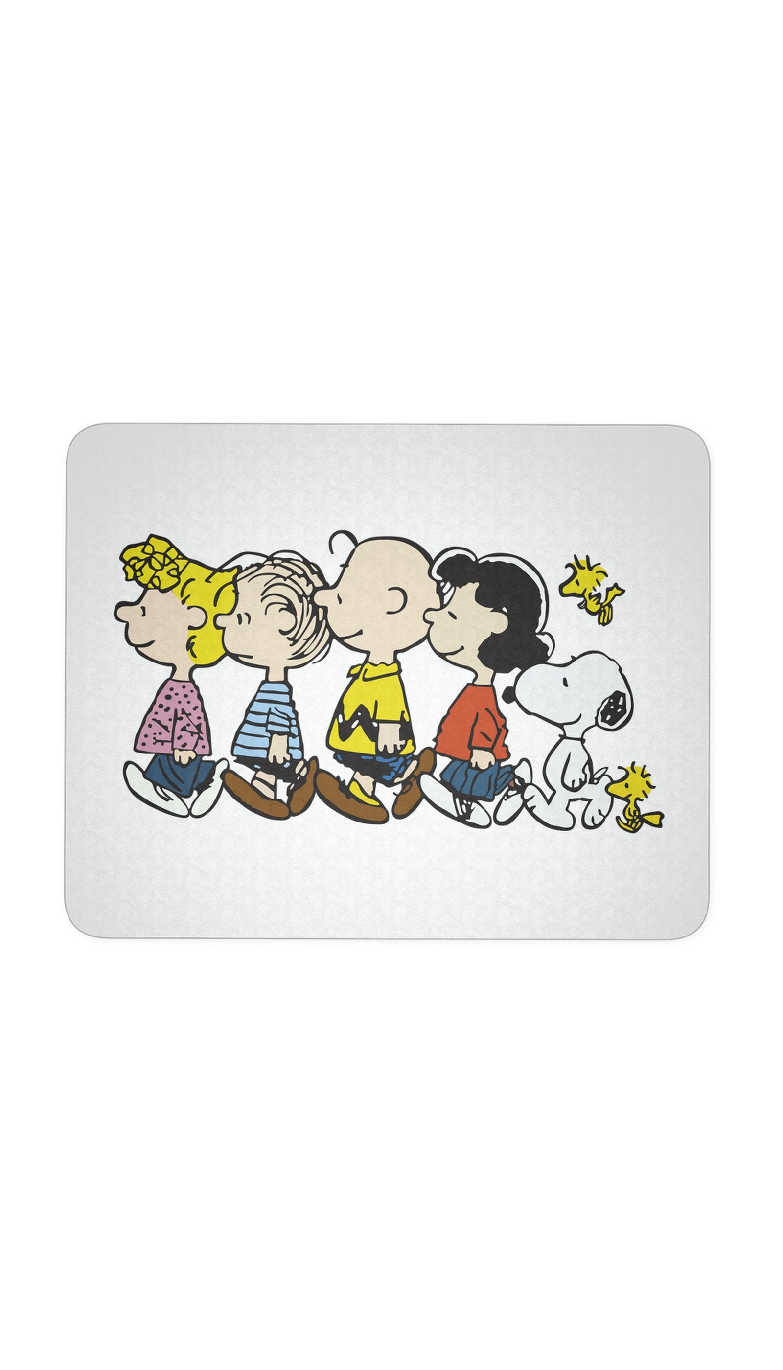 Snoopy And The Peanuts Walking White Mouse Pad | Sarcastic Me