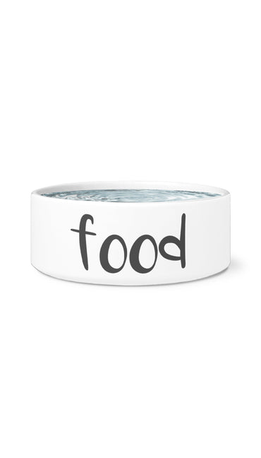 Food White Pet Bowl | Sarcastic Me