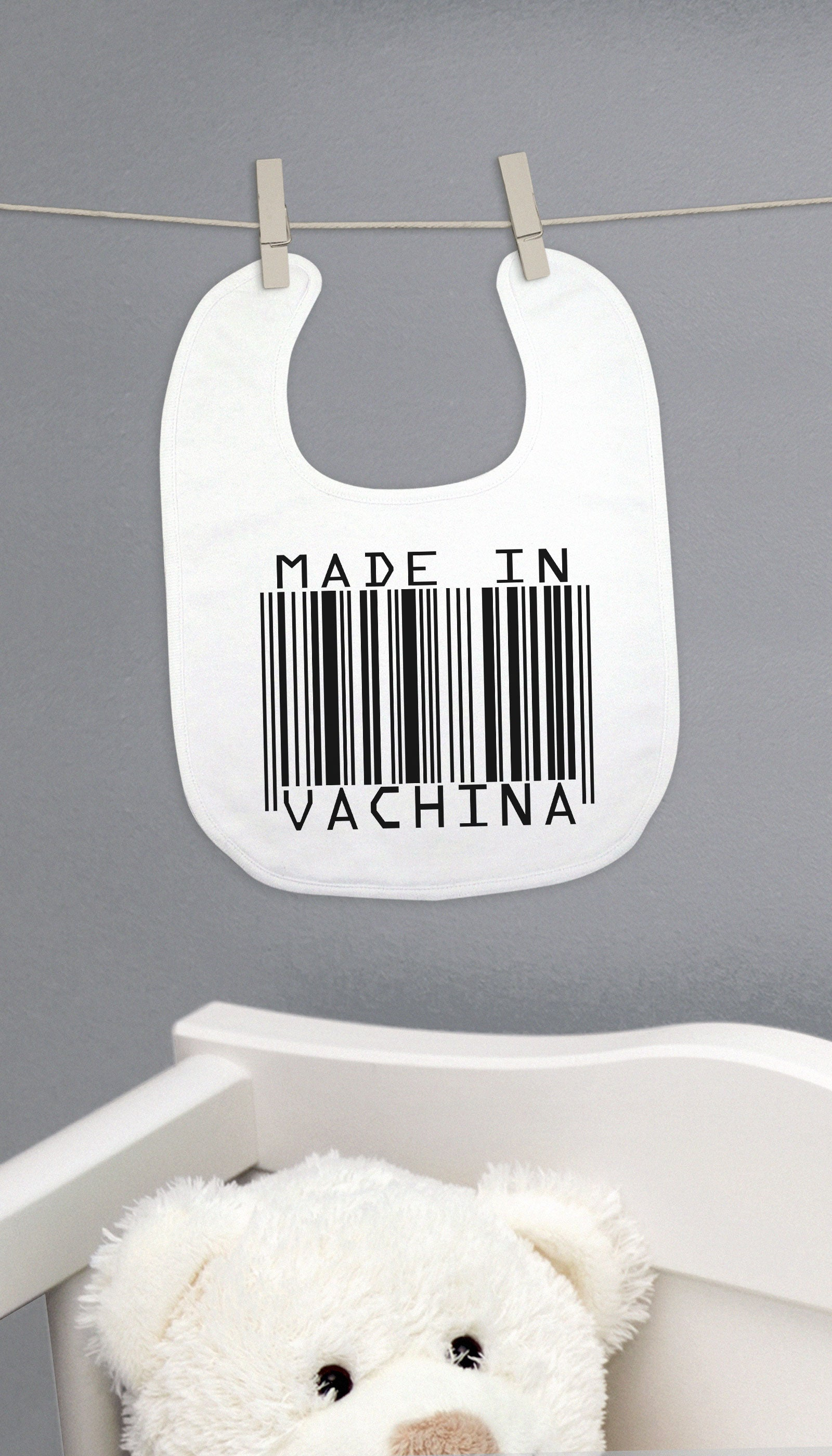 Made In Vachina Funny Baby Bib Gift | Sarcastic ME