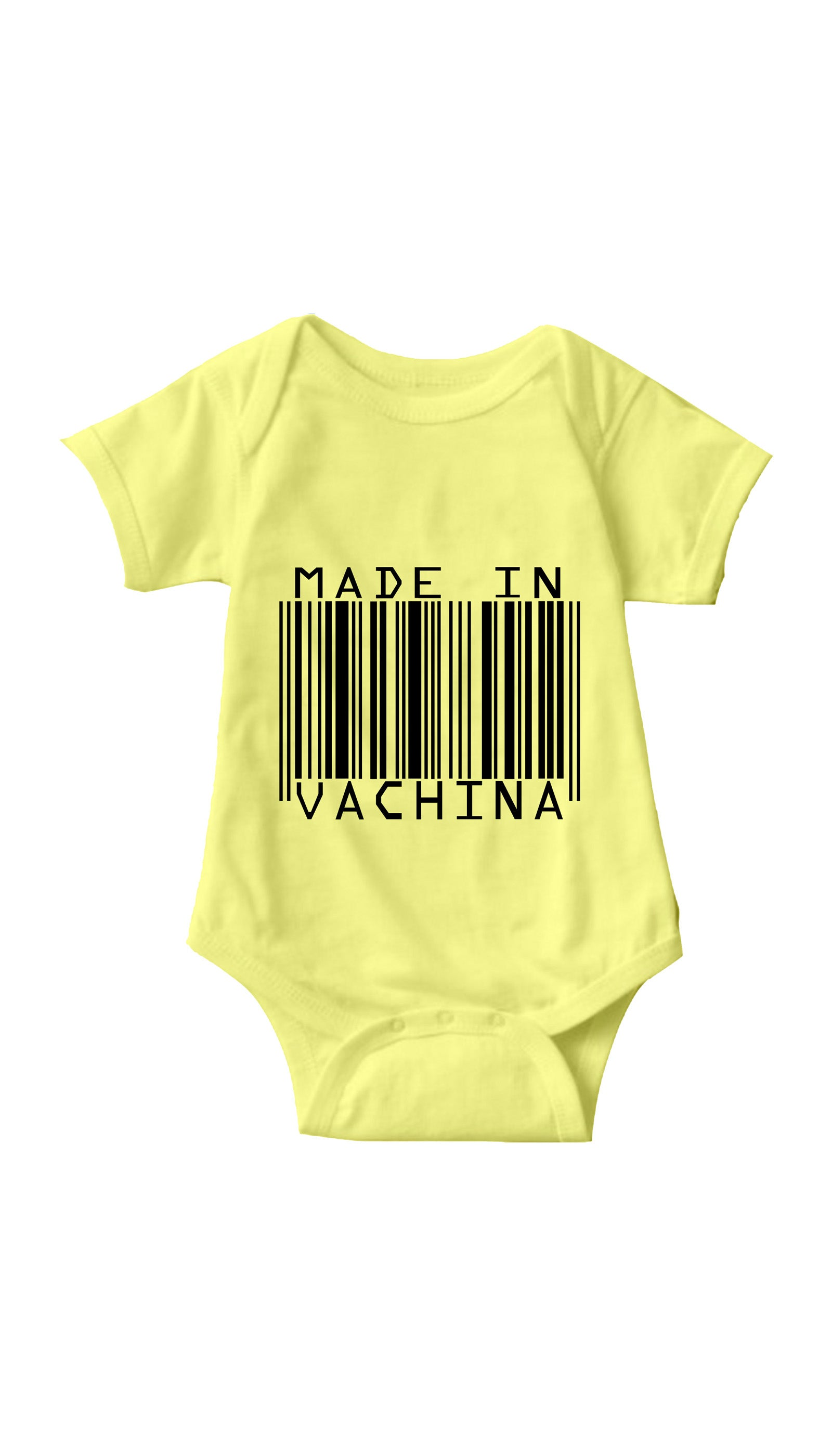 Made In Vachina Yellow Infant Onesie | Sarcastic ME