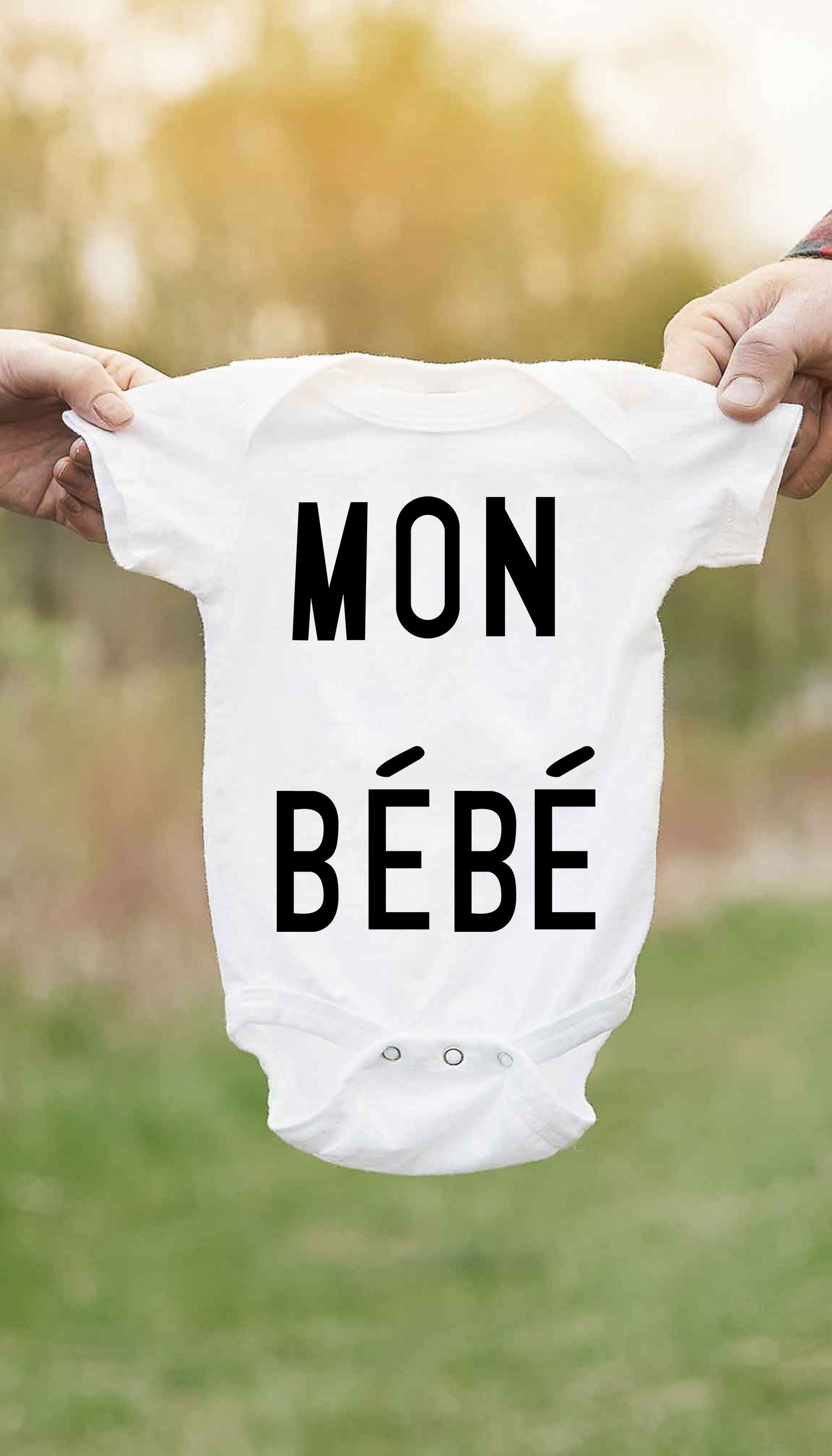 Mon Bebe Cute & Funny Baby Infant Onesie | Sarcastic ME