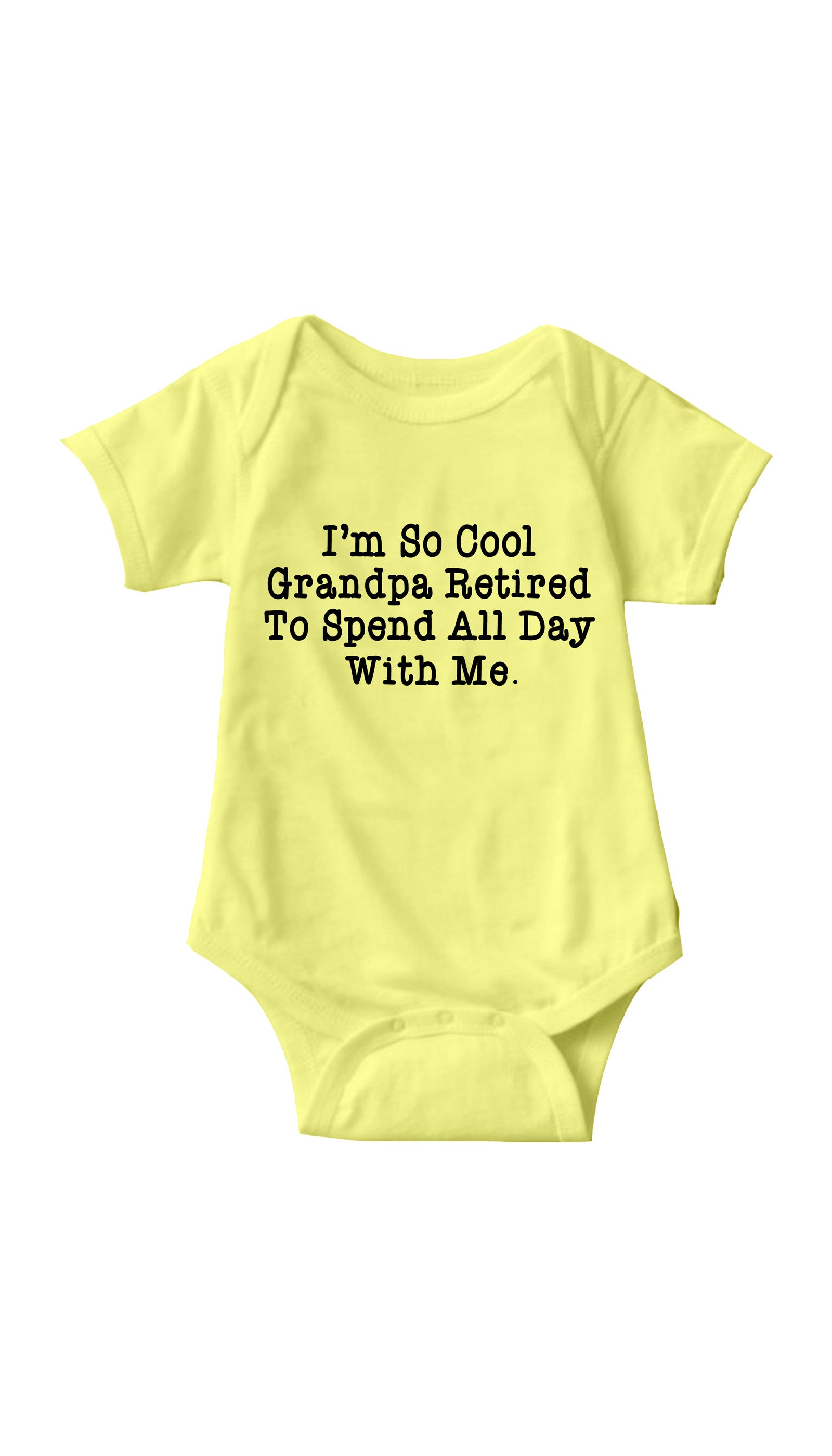 I'm So Cool Grandpa Retired Yellow Infant Onesie | Sarcastic ME