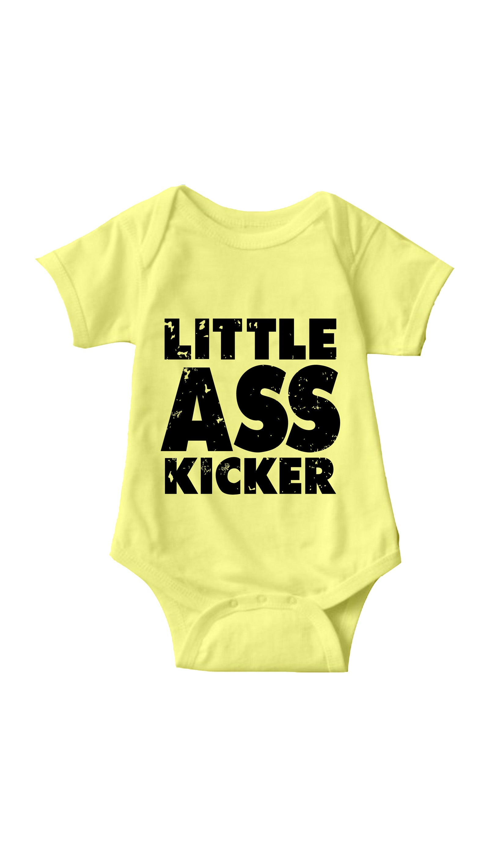 Little Ass Kicker Yellow Infant Onesie | Sarcastic ME