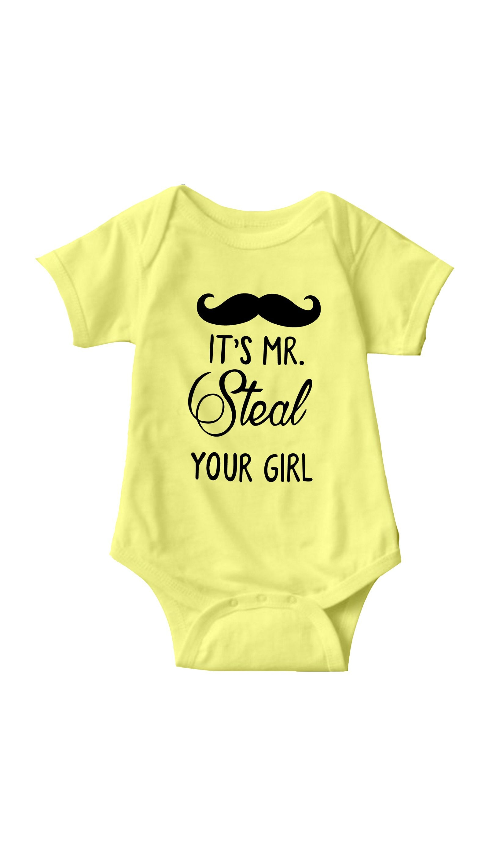It's Mr. Steal Your Girl Yellow Infant Onesie | Sarcastic ME