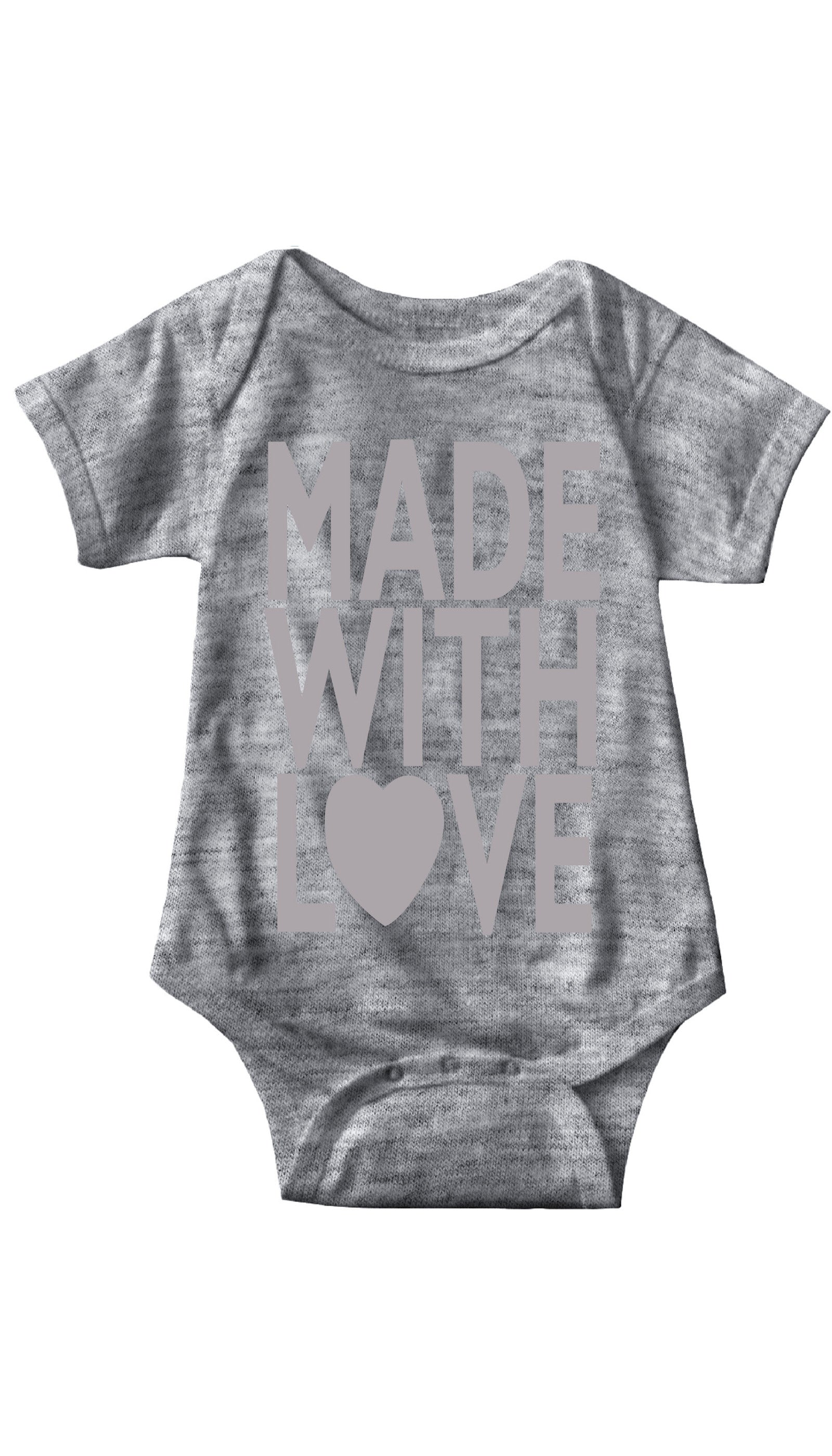 Made With Love Gray Infant Onesie | Sarcastic ME