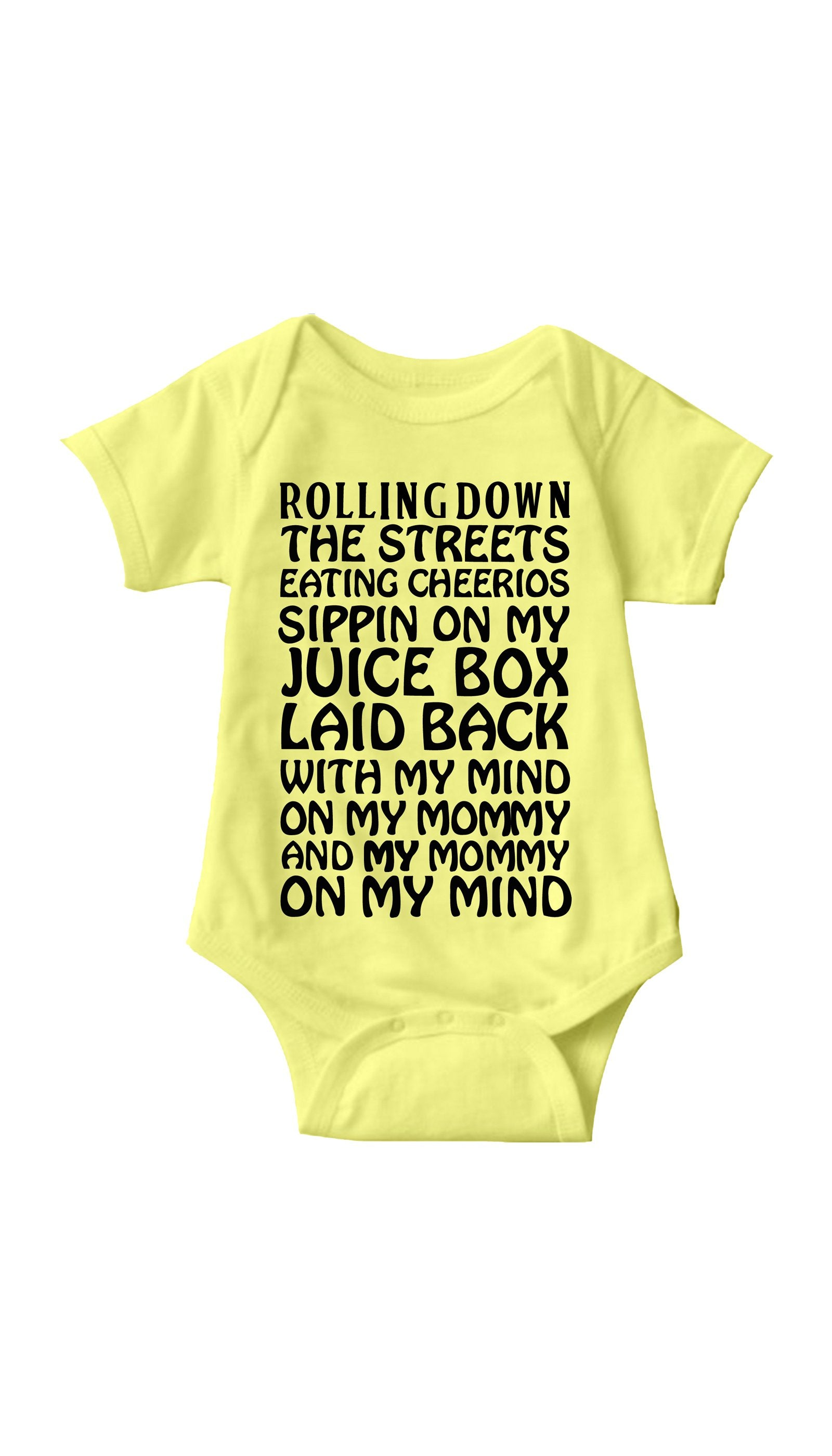 Rollin Down The Streets Yellow Infant Onesie | Sarcastic ME