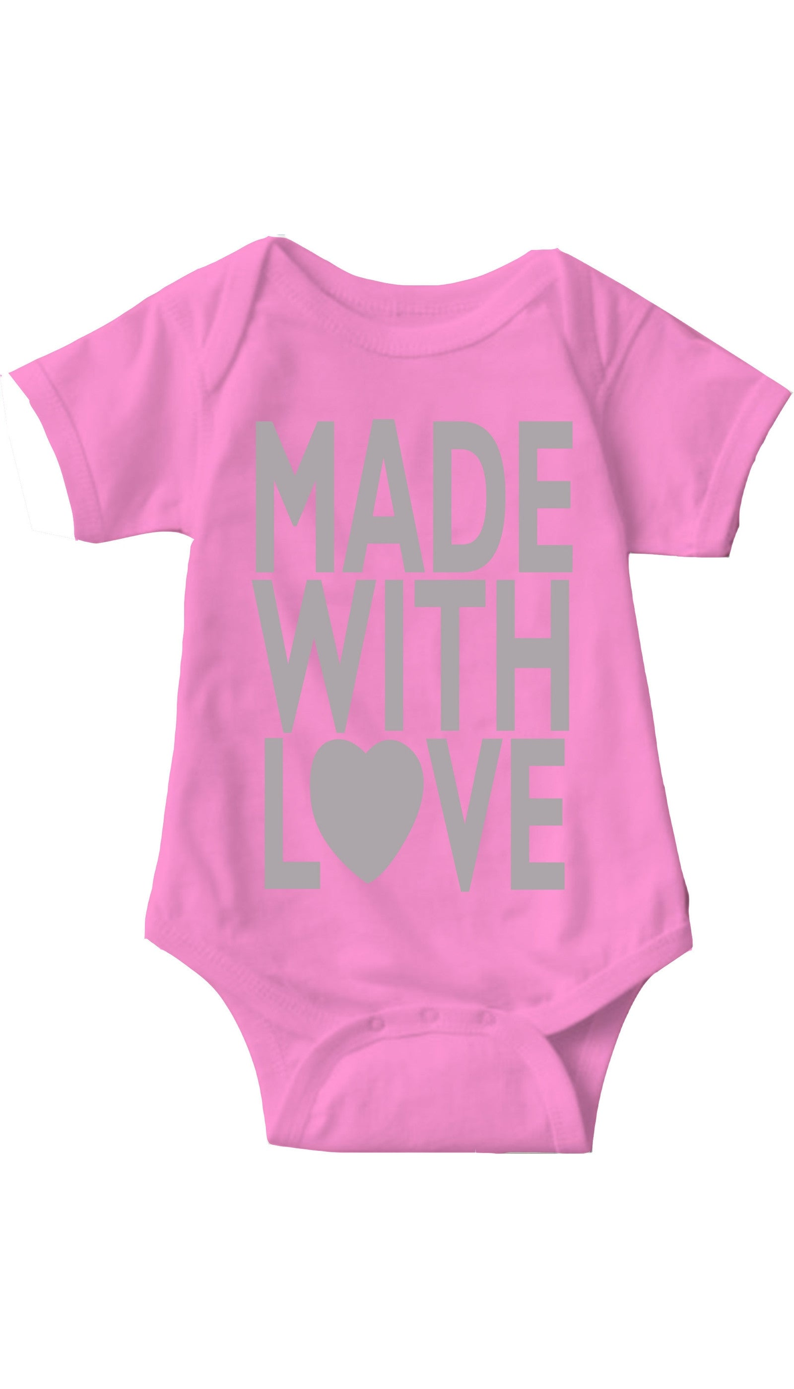 Made With Love Pink Infant Onesie | Sarcastic ME