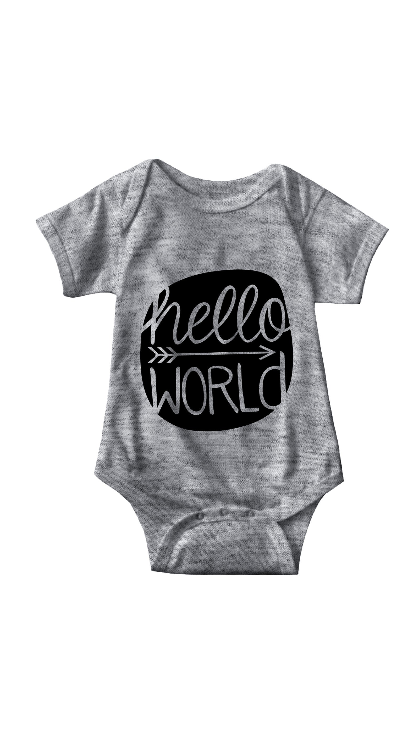 Hello World Gray Infant Onesie | Sarcastic ME