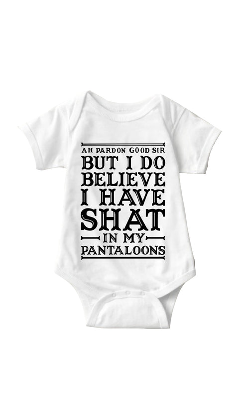 Ah Pardon Good Sir White Infant Onesie | Sarcastic ME
