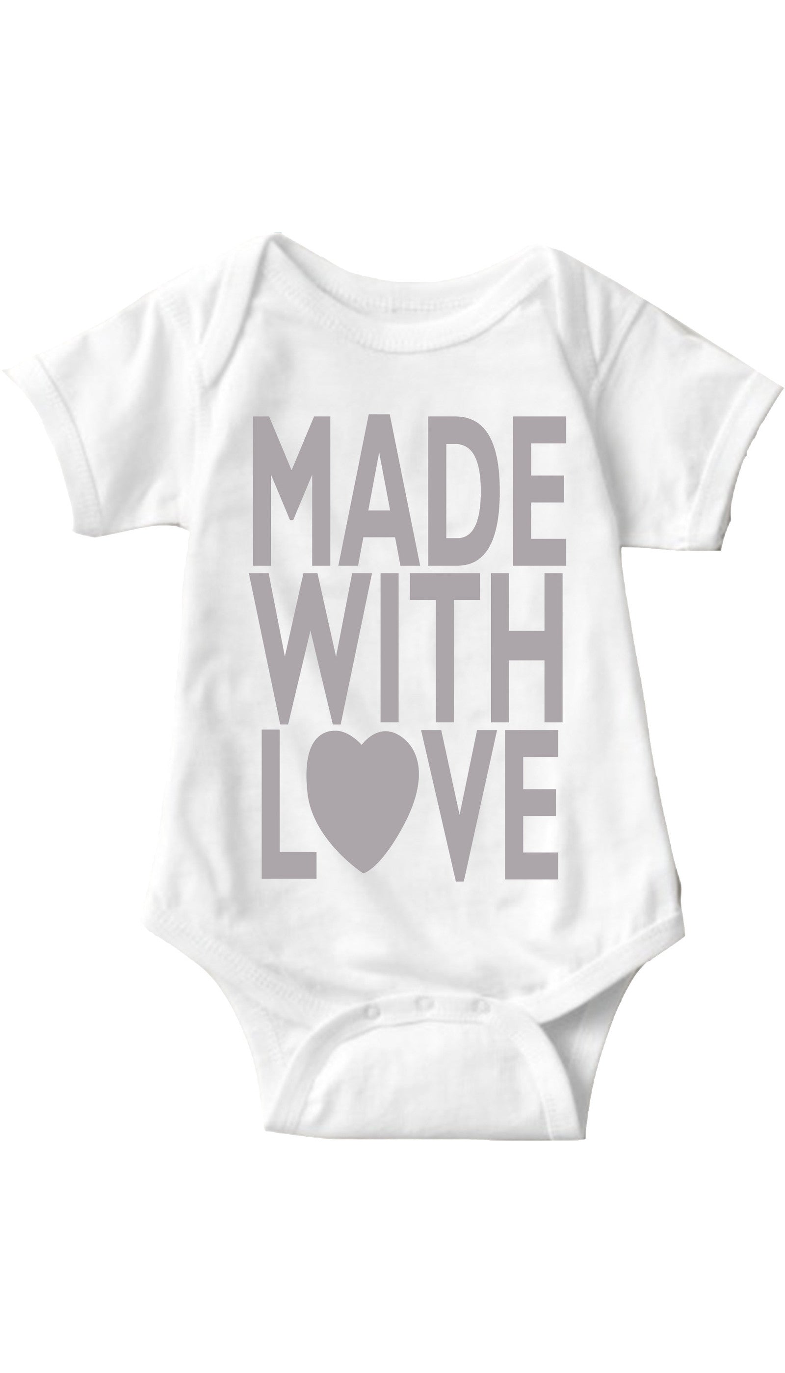 Made With Love White Infant Onesie | Sarcastic ME