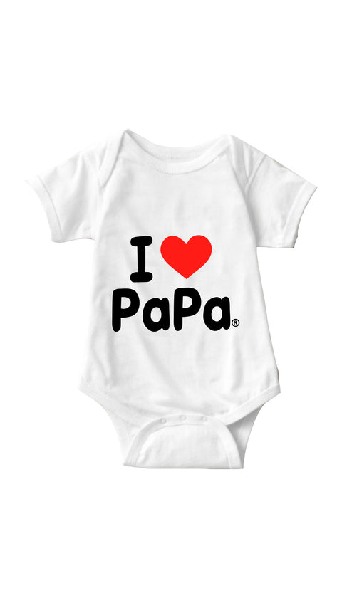 I Love Papa White Infant Onesie | Sarcastic ME