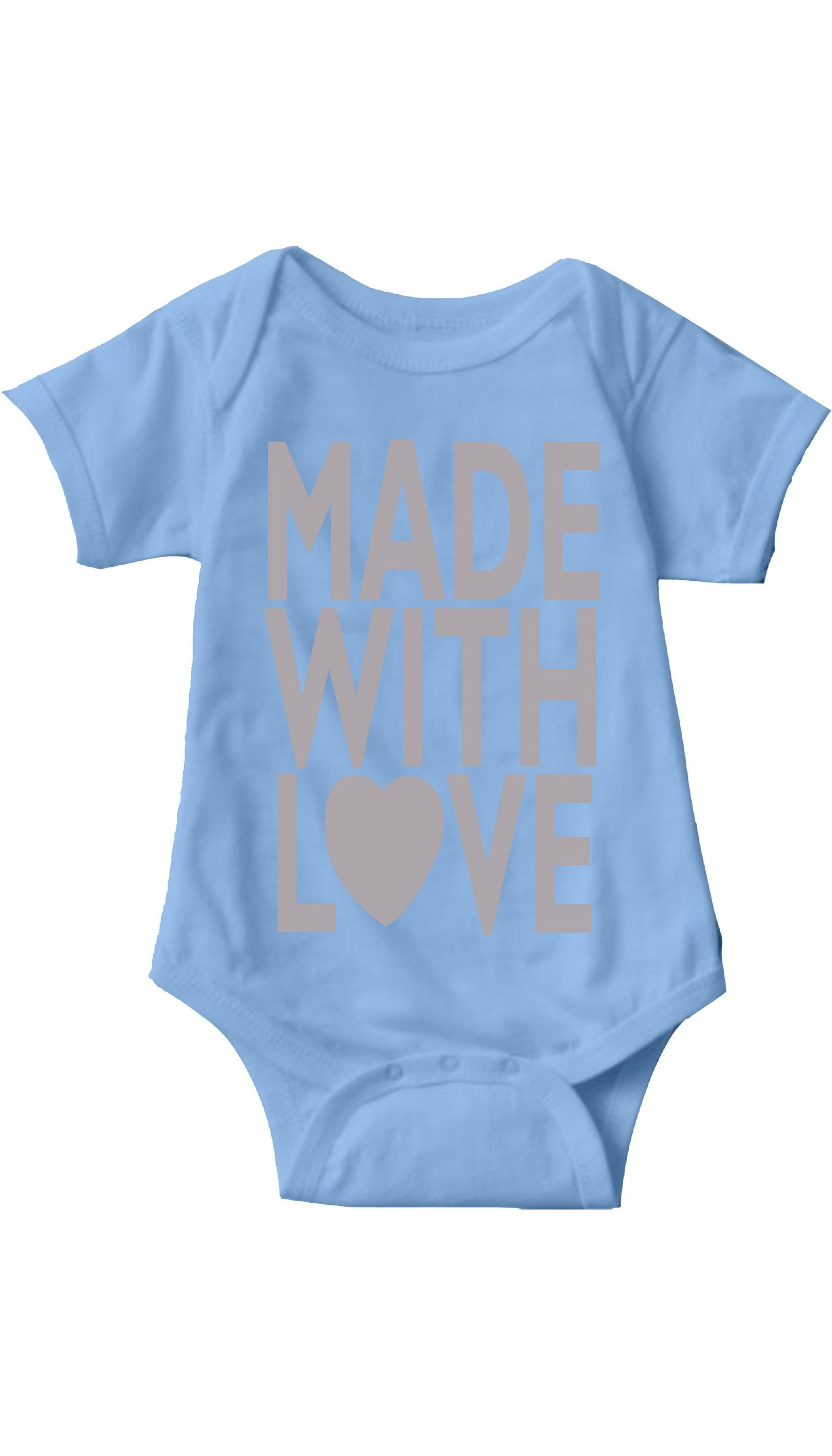 Made With Love Light Blue Infant Onesie | Sarcastic ME