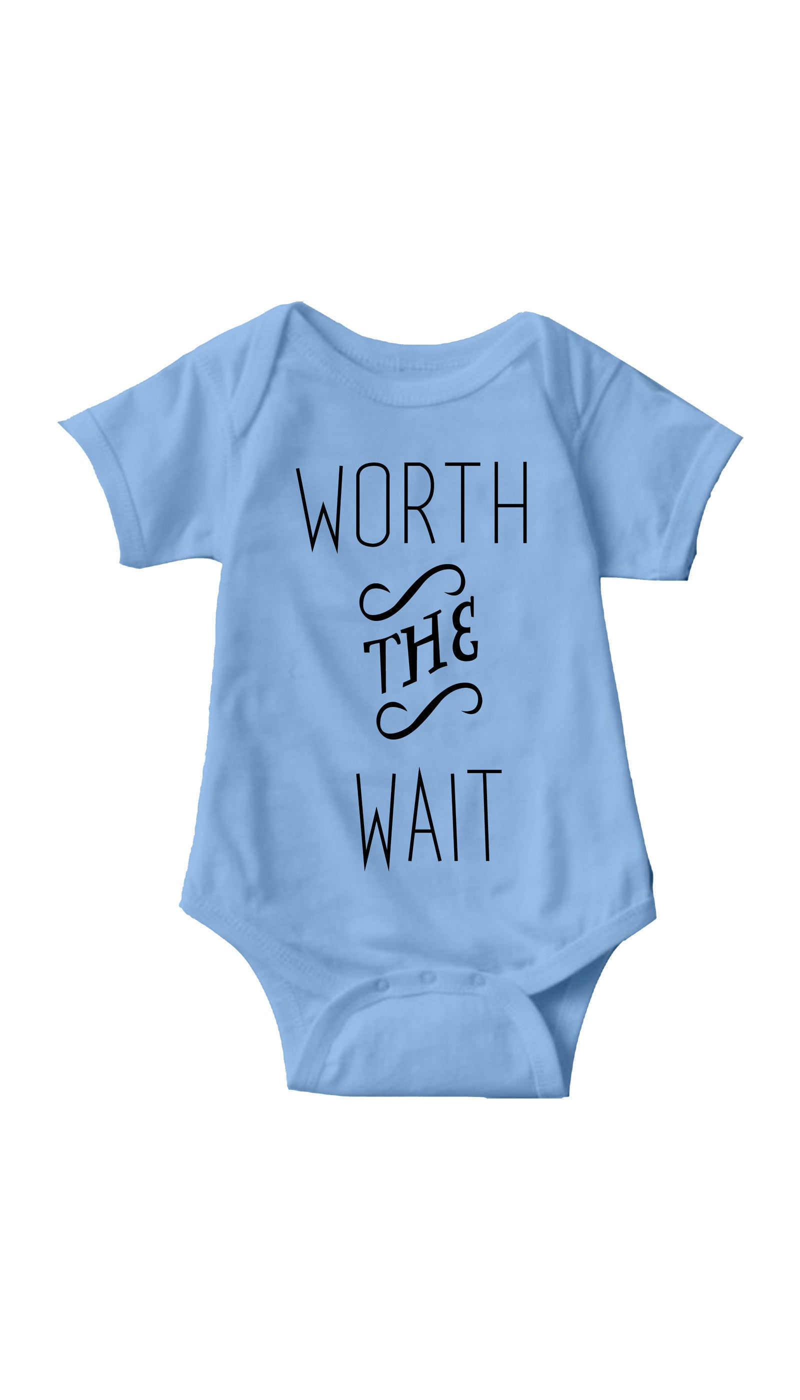 Worth The Wait Light Blue Infant Onesie | Sarcastic ME