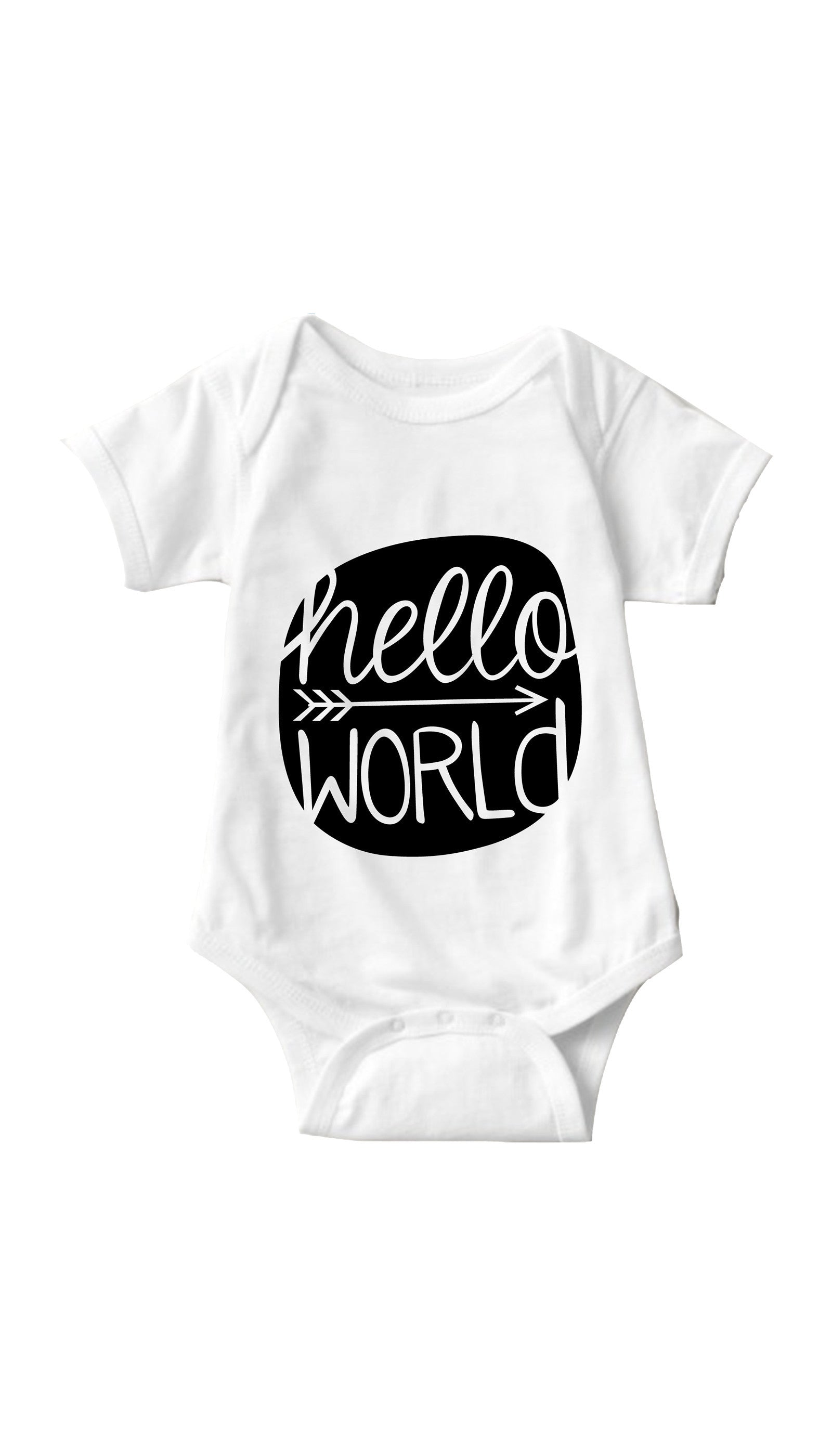 Hello World White Infant Onesie | Sarcastic ME