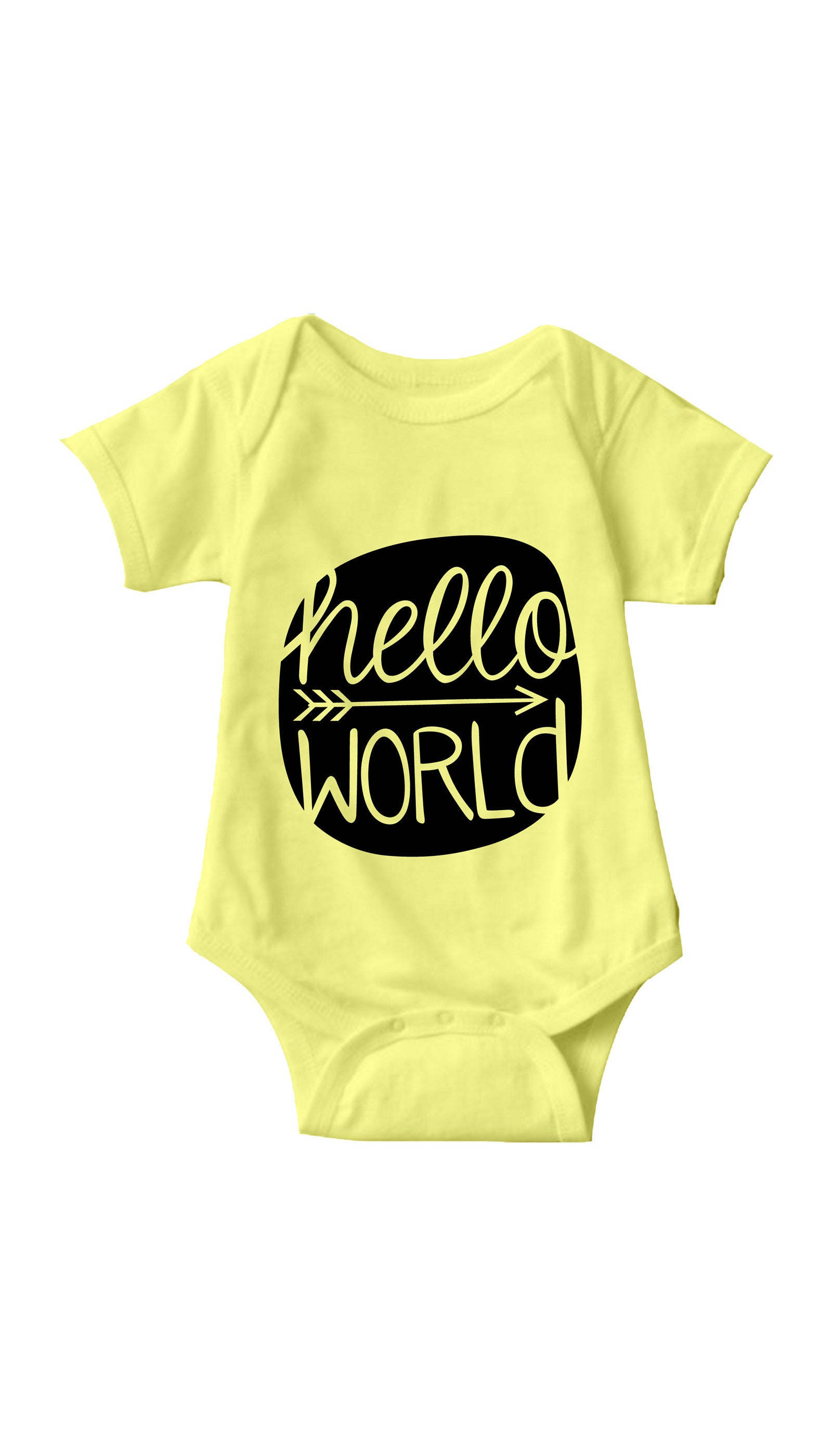 Hello World Yellow Infant Onesie | Sarcastic ME
