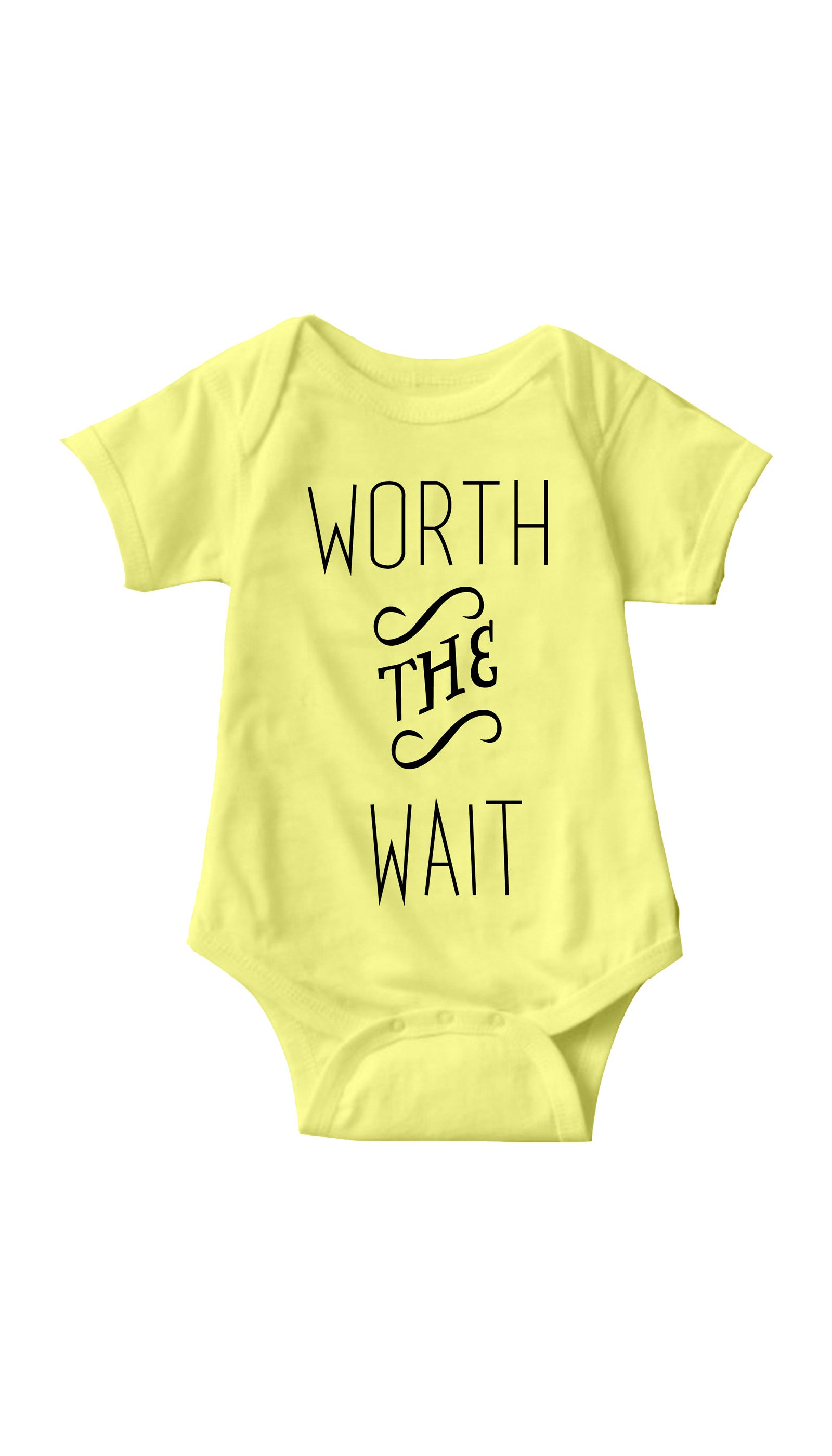 Worth The Wait Yellow Infant Onesie | Sarcastic ME