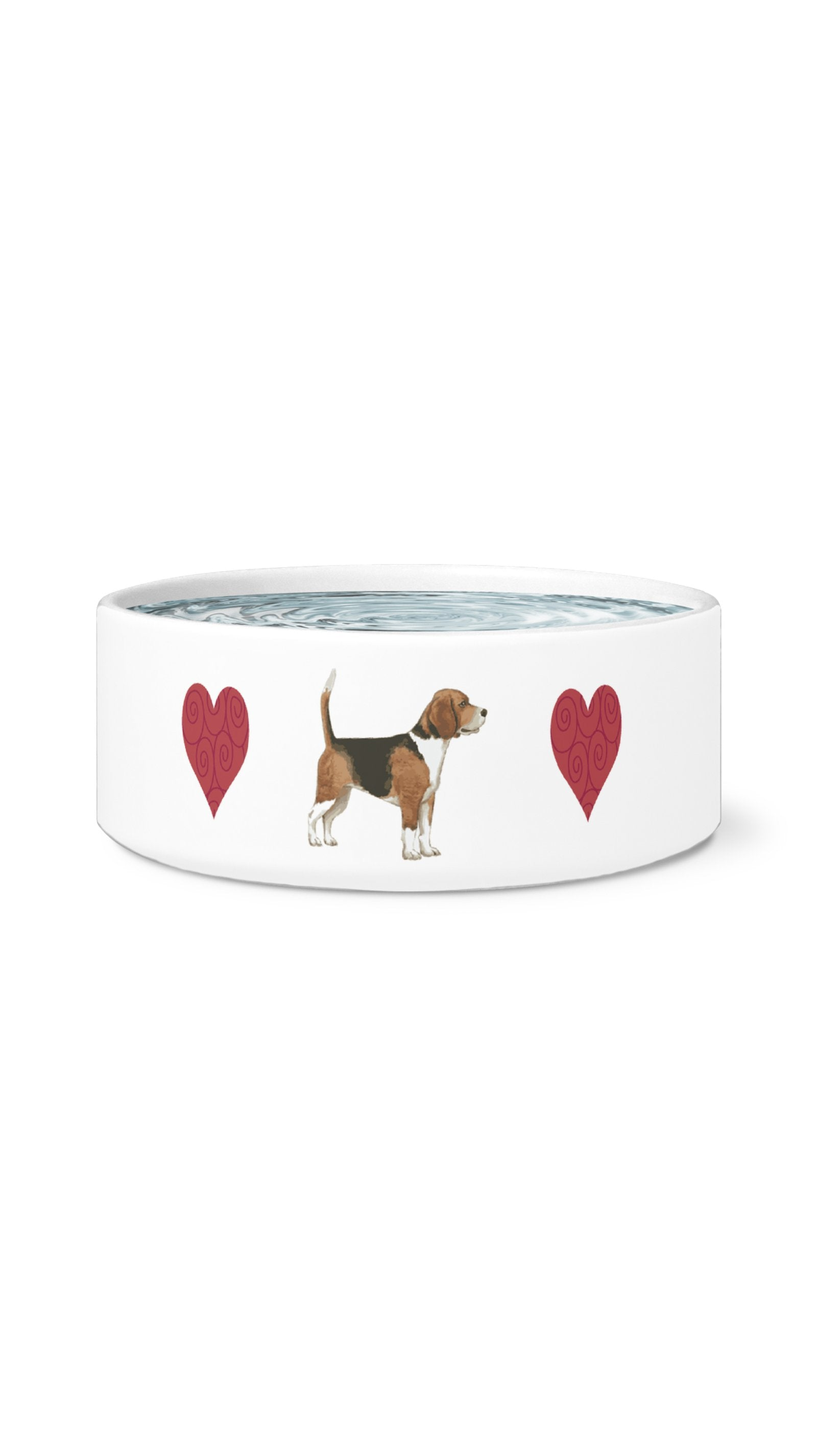 I Love My Beagle Dog White Pet Bowl | Sarcastic Me