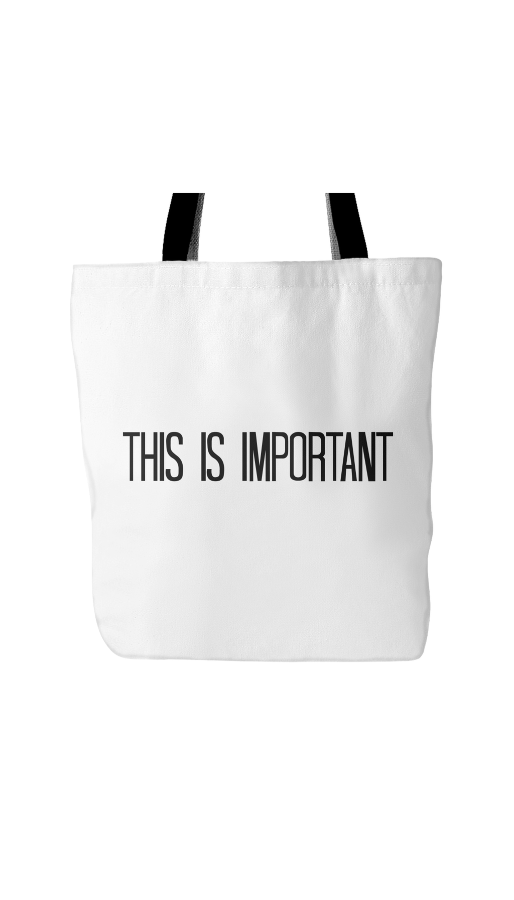 This Is Important White Tote Bag | Sarcastic Me